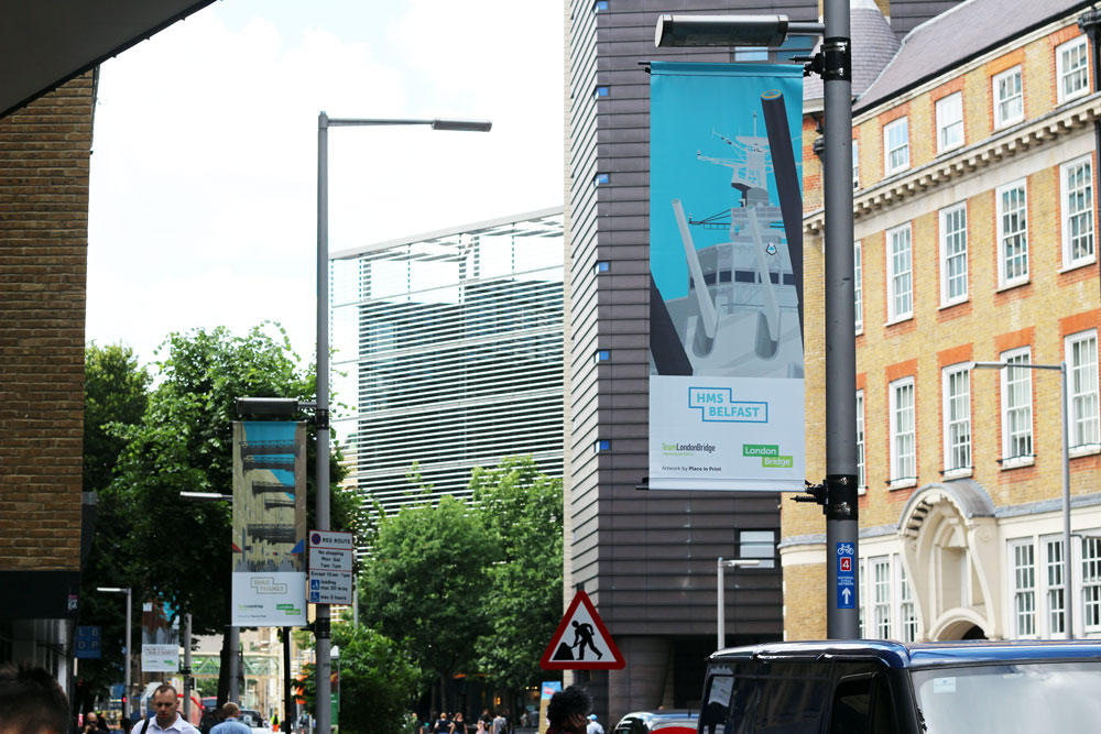 Place in Print Team London Bridge Lamppost Banners