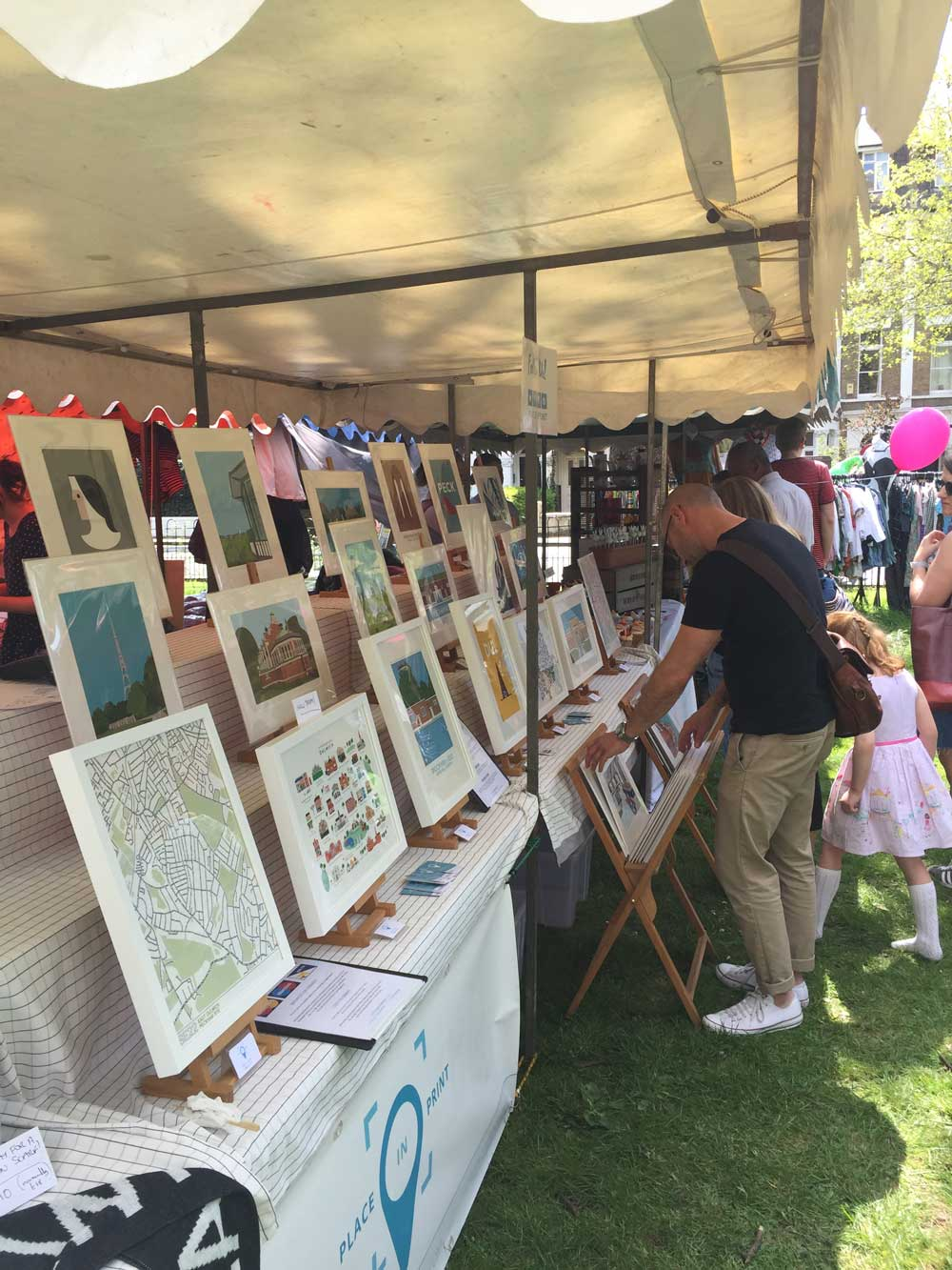 Place in Print Stall at Goose Green Fair