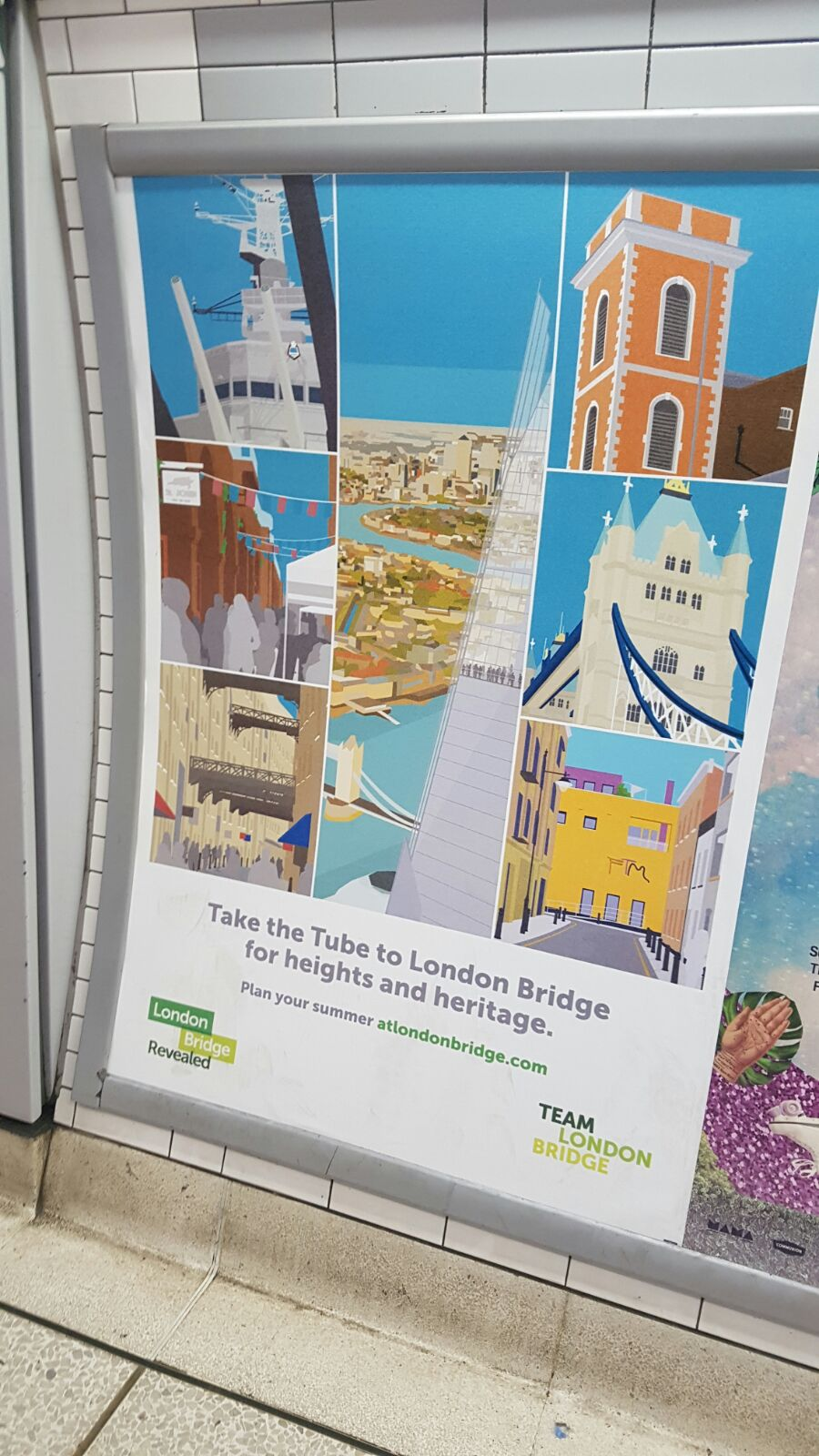Place in Print London Bridge Banners - Tube Ad