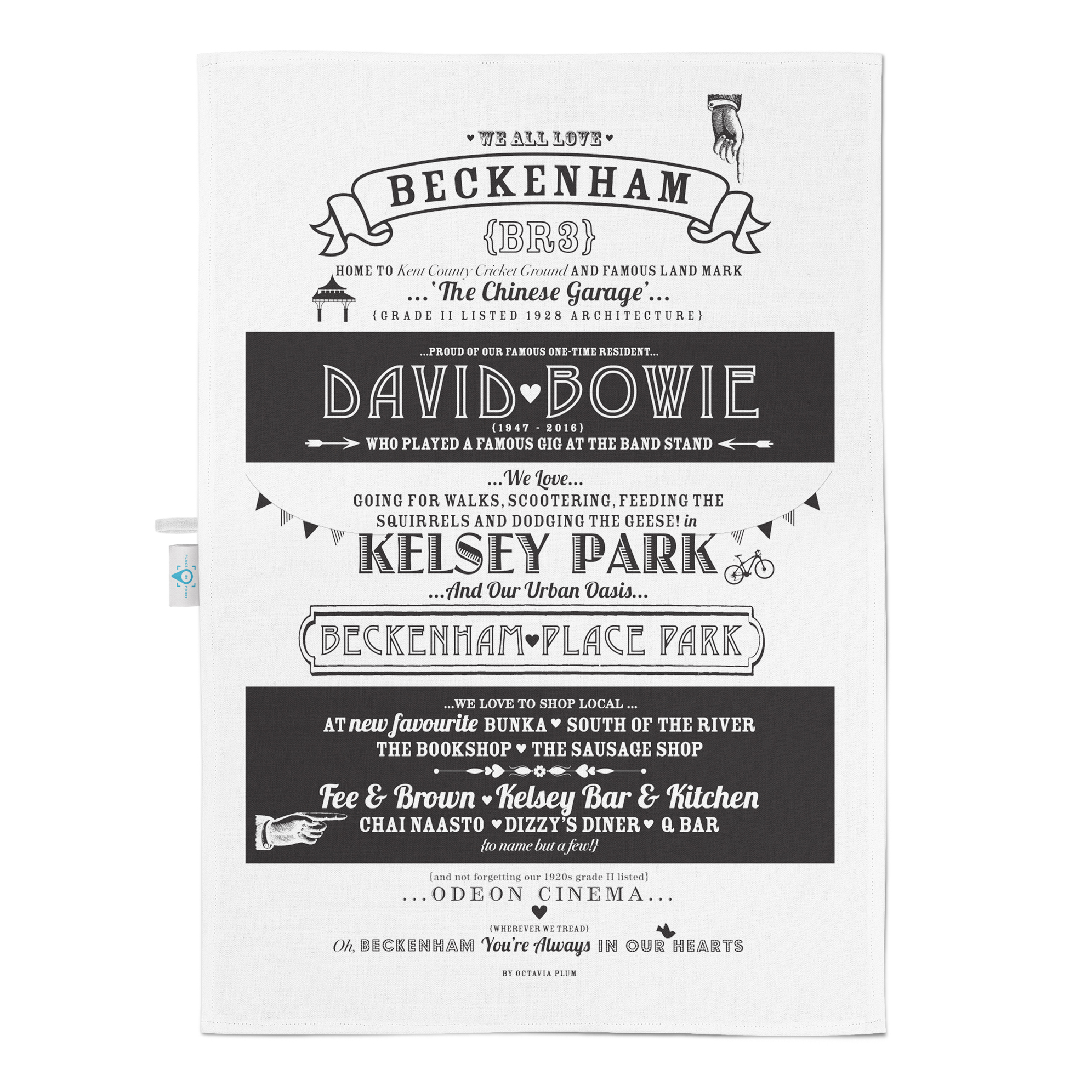 Place in Print Octavia Plum Beckenham Tea Towel