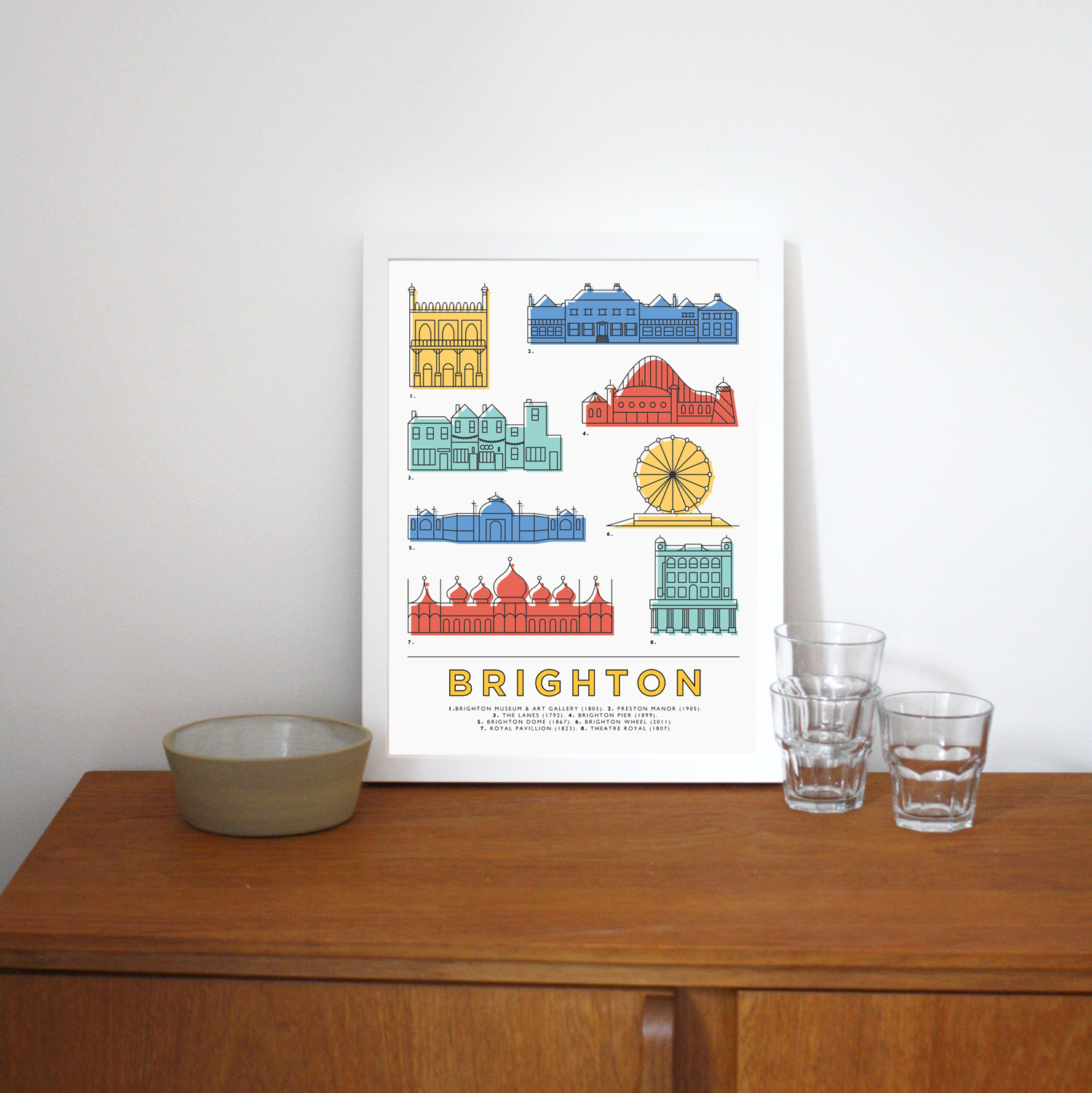 Place in Print East Atlantic Design Brighton Icons Landmarks Art Poster Print Lifestyle