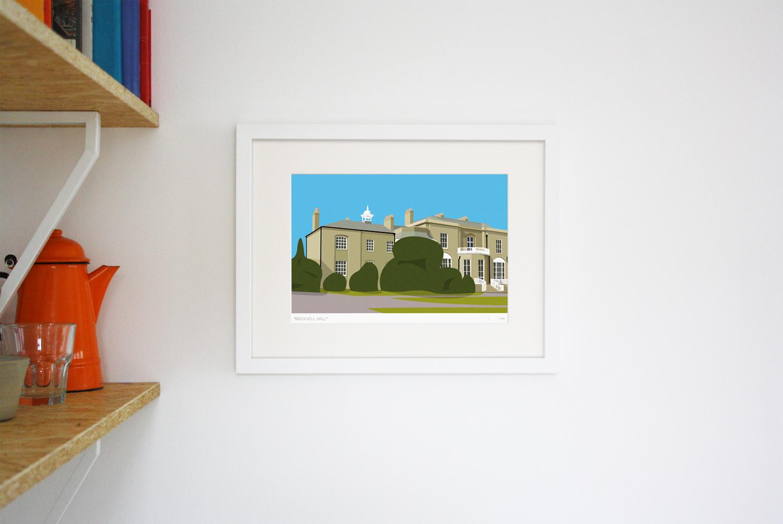 Brockwell Hall Art Poster Print Lifestyle