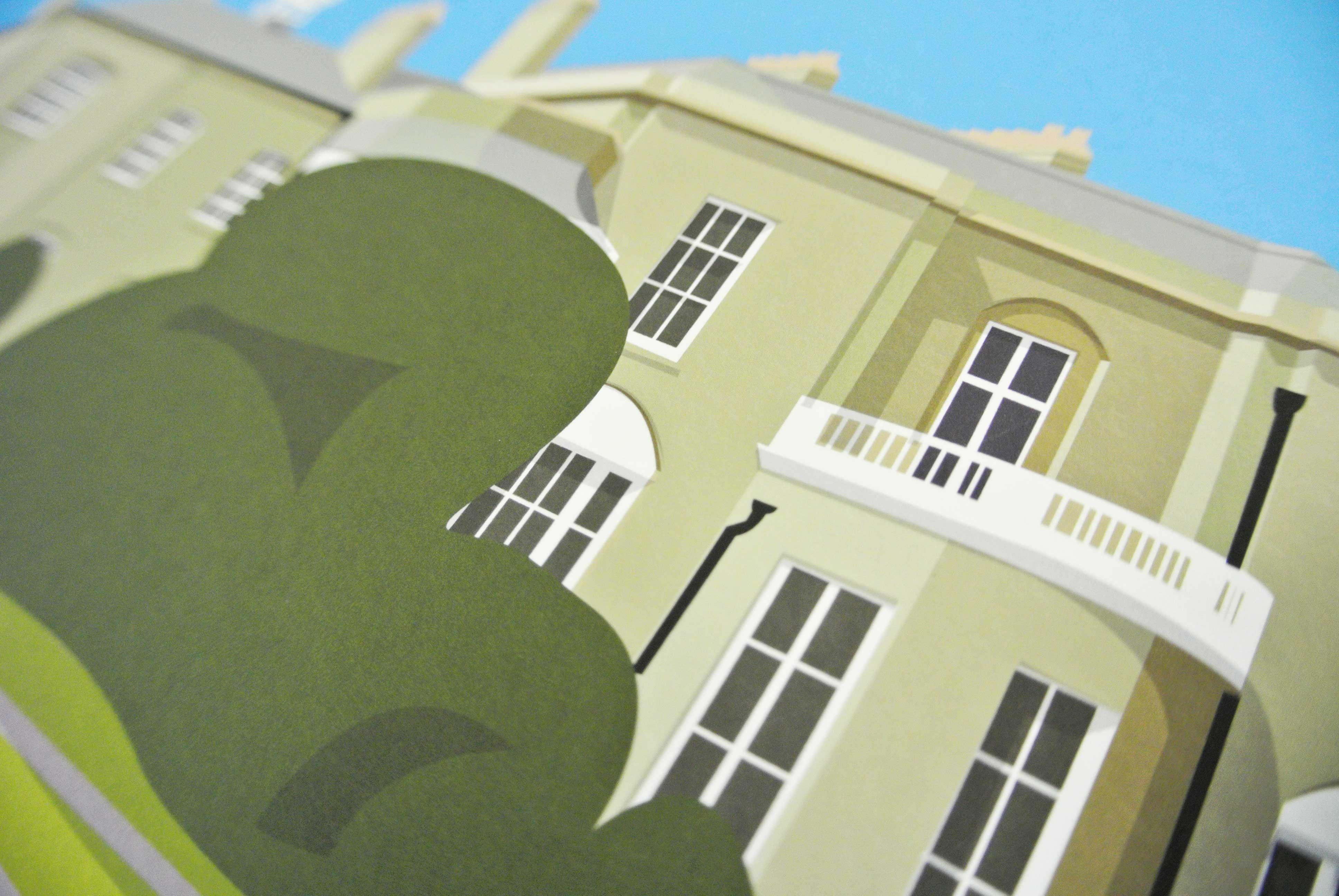 Brockwell Hall Art Poster Print Detail