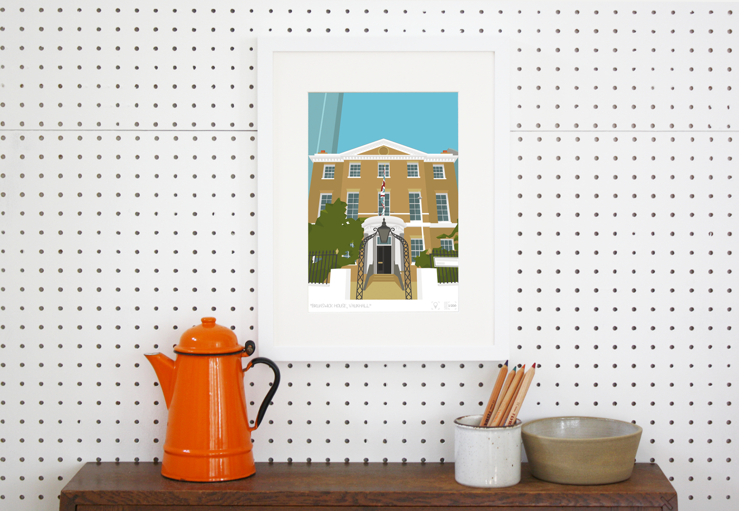 Place in Print Brunswick House Vauxhall Art Print Lifestyle