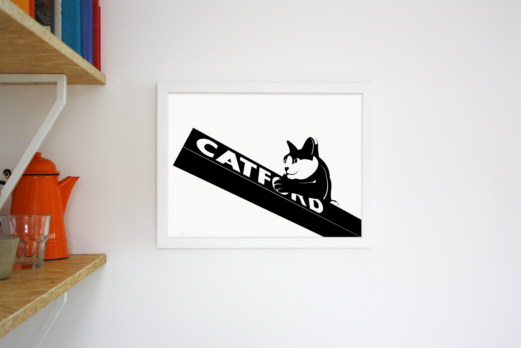 Place in Print Catford Cat 2 SE6 Art Print Lifestyle