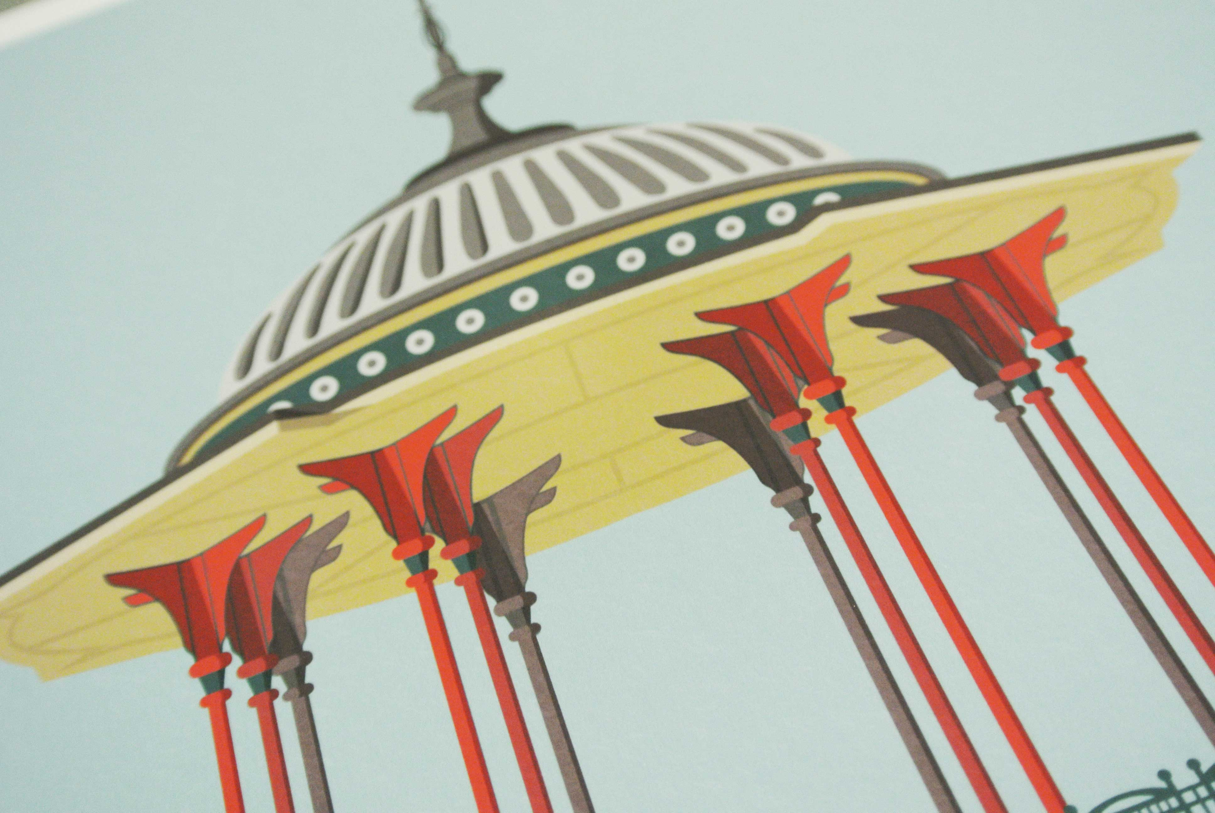 Place in Print South London Prints Clapham Common Bandstand Art Print Photo