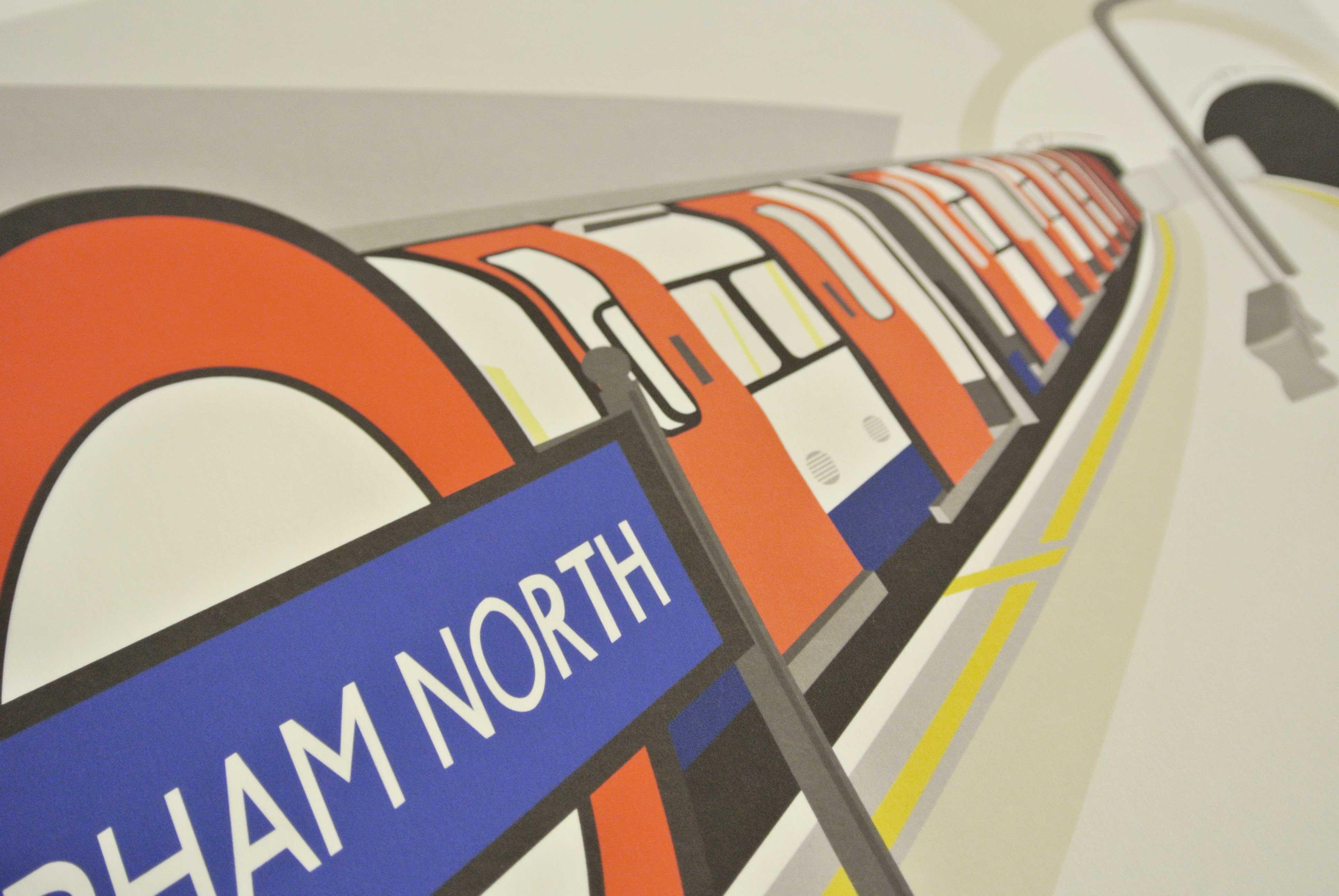 Place in Print South London Prints Clapham North Station Platform Art Print Photo
