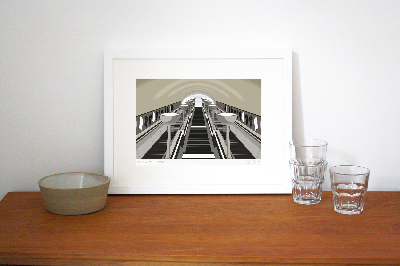 Place in Print South London Prints Clapham South Stairs Art Print Lifestyle