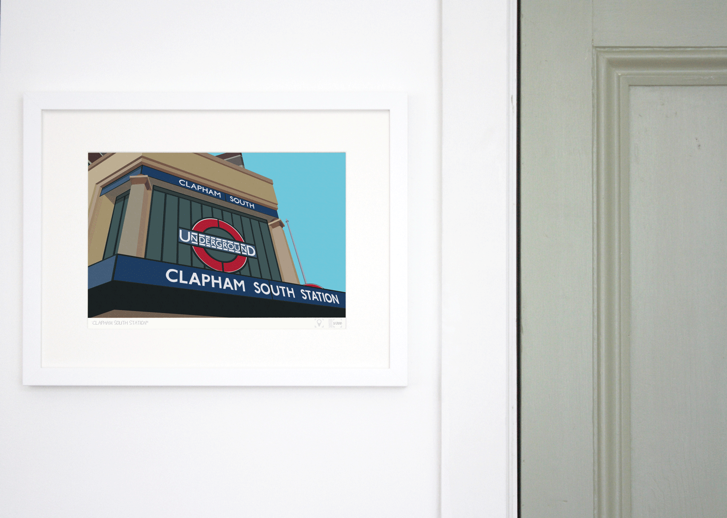 Place in Print South London Prints Clapham South Tube Underground Station Art Print Lifestyle