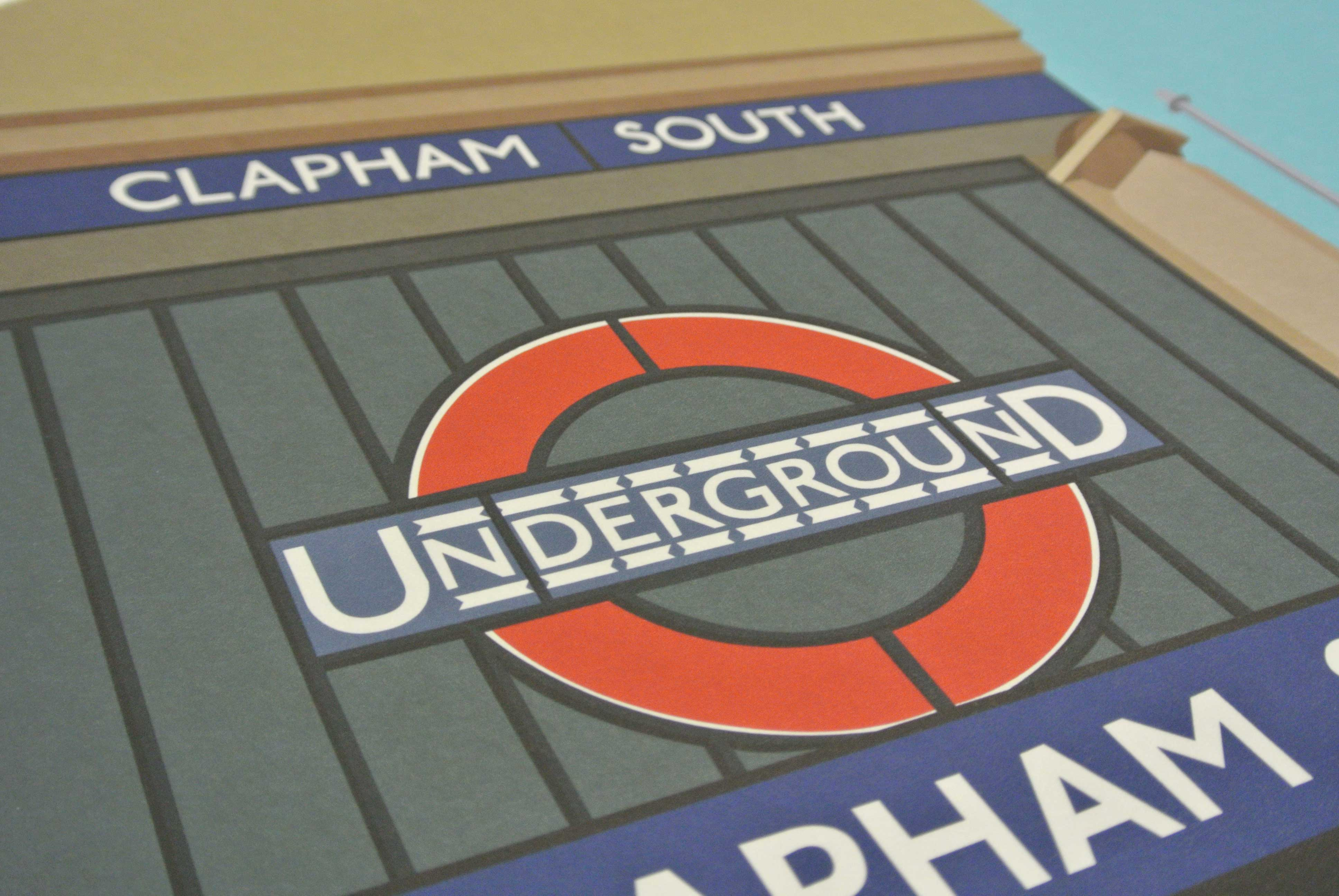 Place in Print South London Prints Clapham South Tube Underground Station Art Print Photo