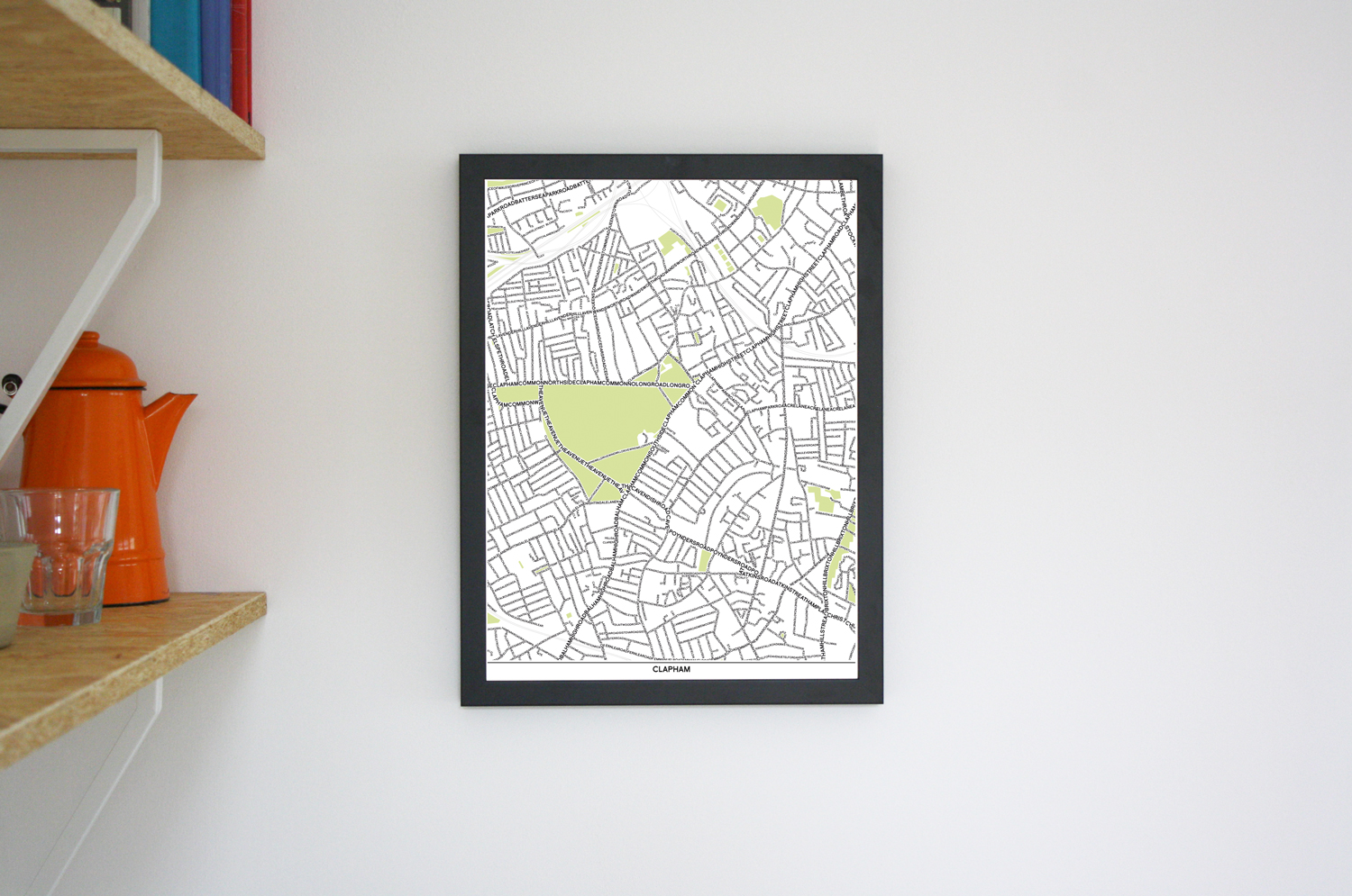 Place in Print Clapham Type Typographic Map Art Poster Print Lifestyle