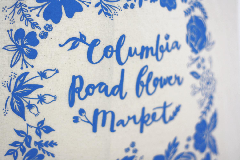 Place in Print Columbia Road Flower Market Tote Bag Closeup