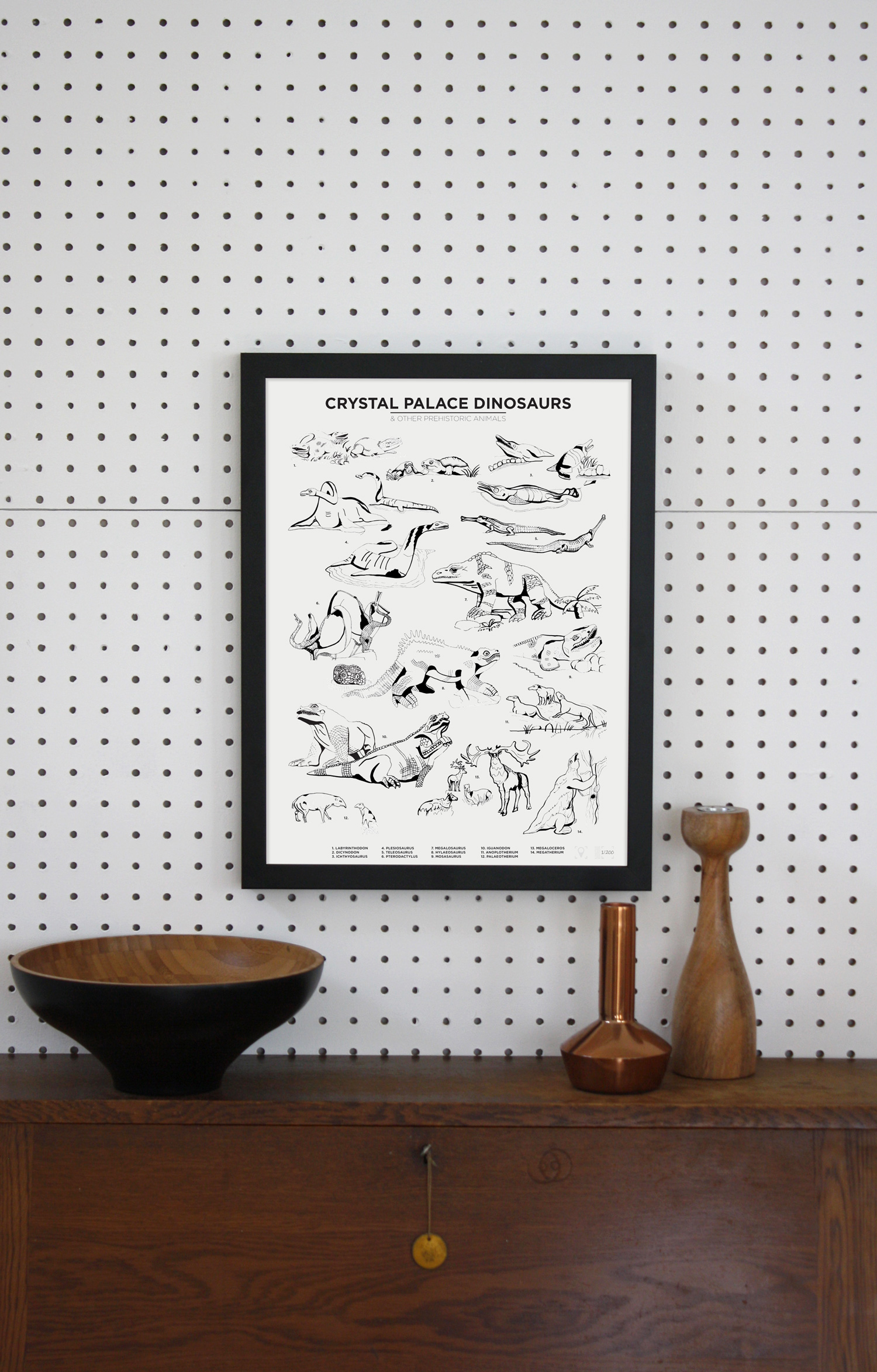 Place in Print Crystal Palace Dinosaurs Art Print Limited Edition Lifestyle