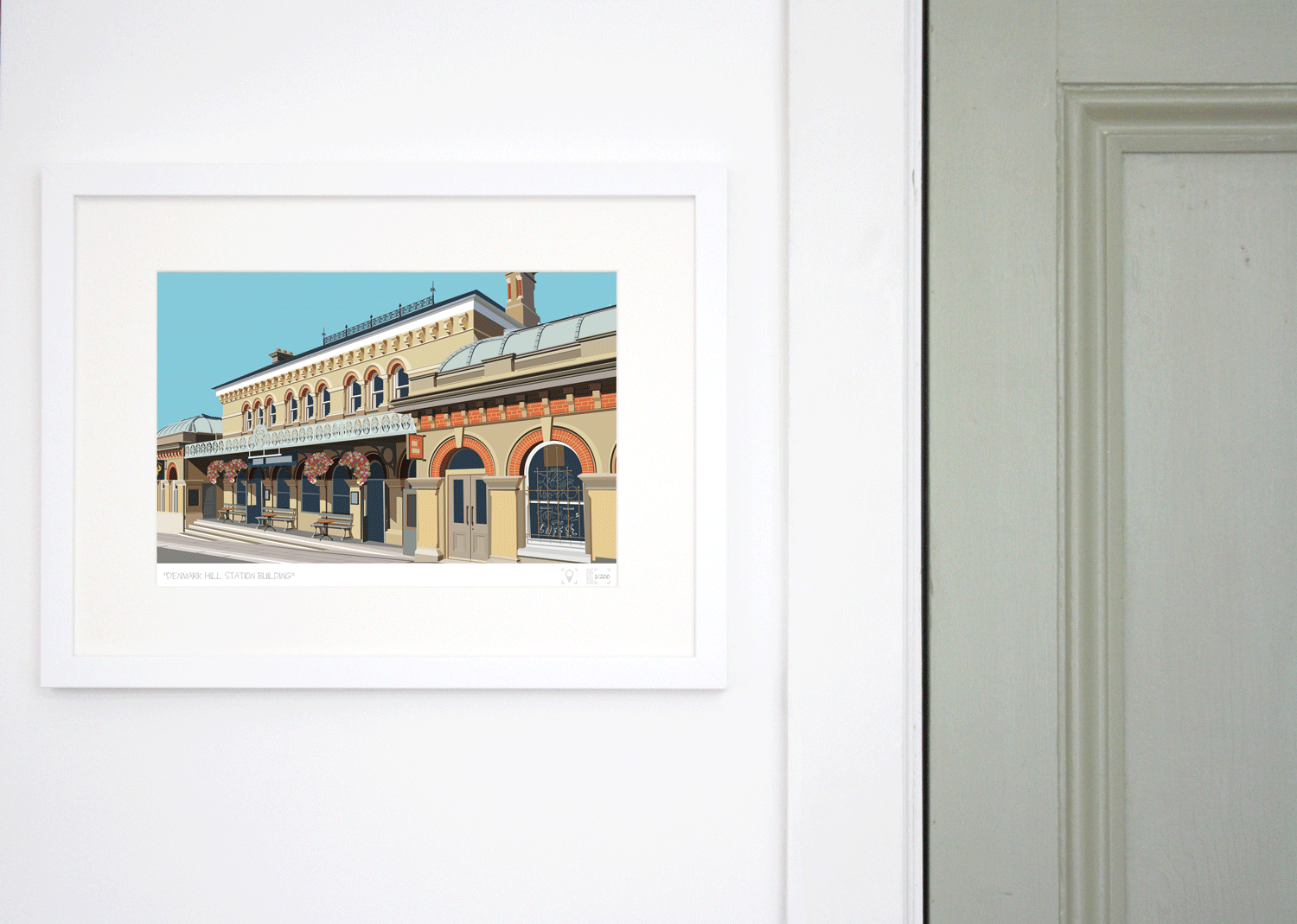 Place in Print Denmark Hill Station Building Art Print Lifestyle