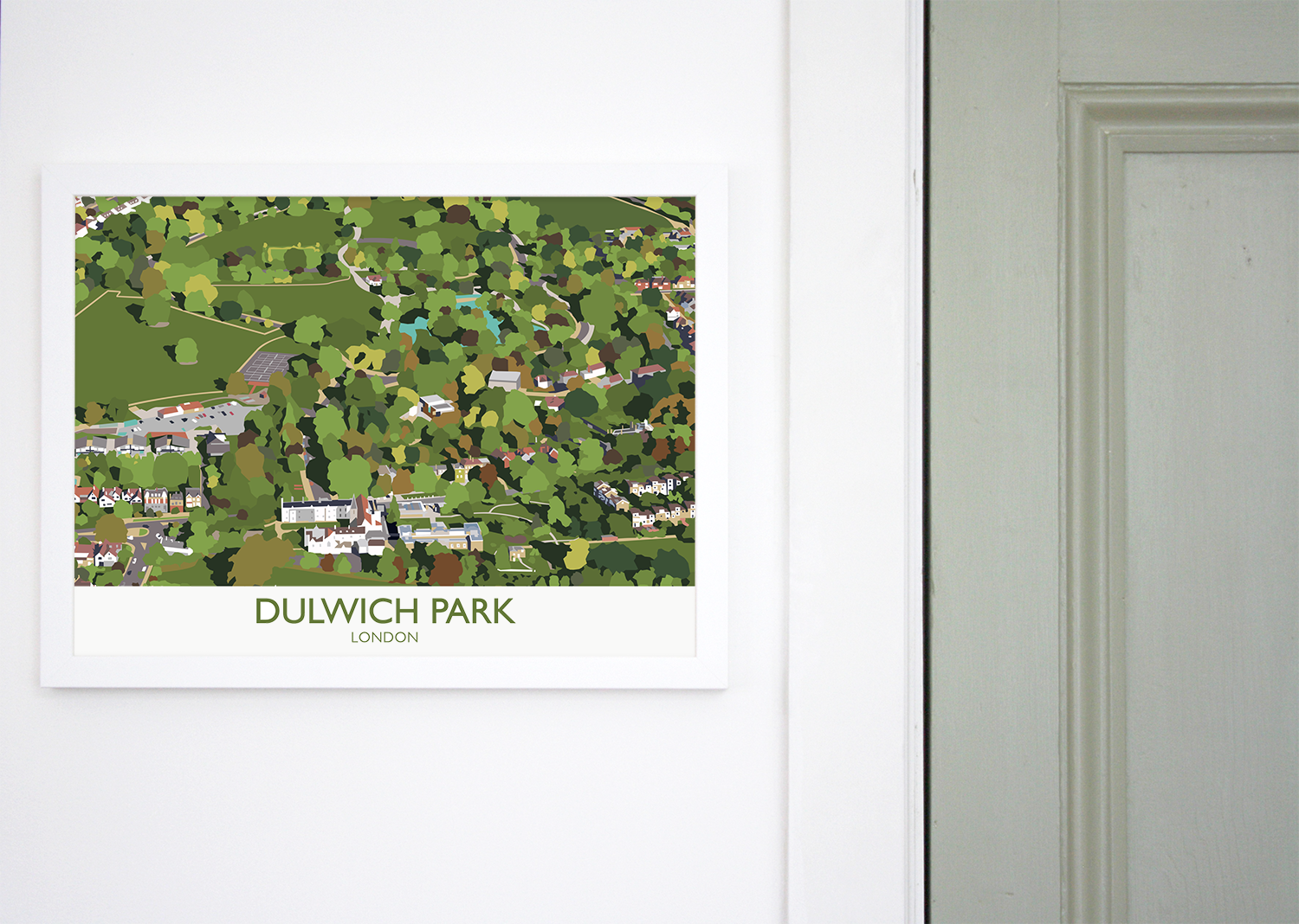 Place in Print Dulwich Park Aerial View Art Print Lifestyle