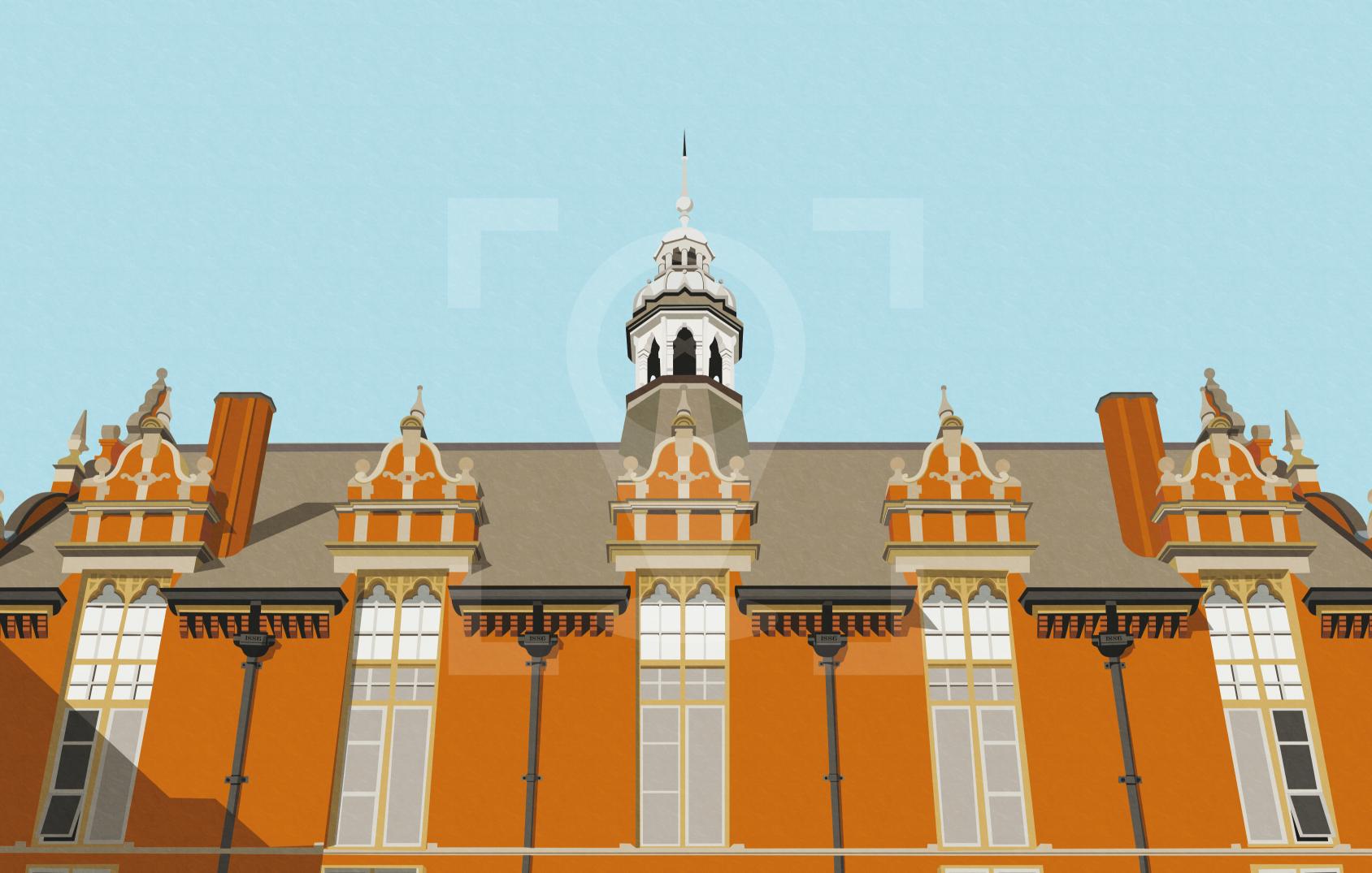 Dulwich Community Hospital Art Poster Print