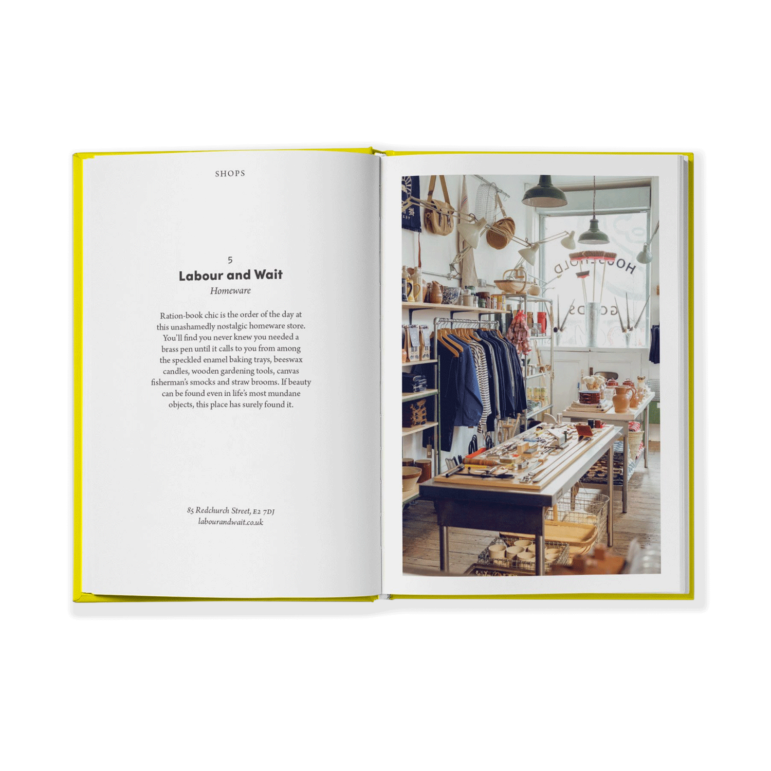 Hoxton Mini Press East London Opinionated Guide Book Page