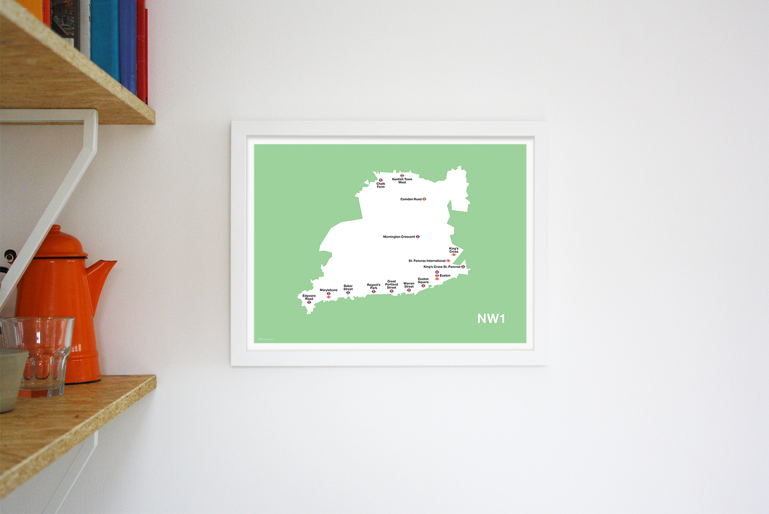 Place in Print MDLThomson NW1 Postcode Map Art Print Lifestyle