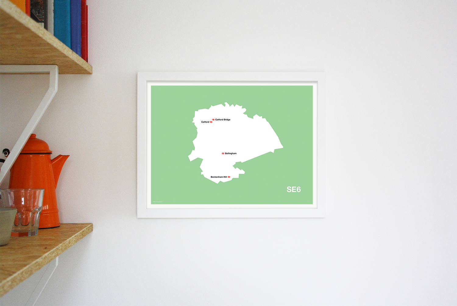 Place in Print MDLThomson SE6 Postcode Map Art Print Lifestyle