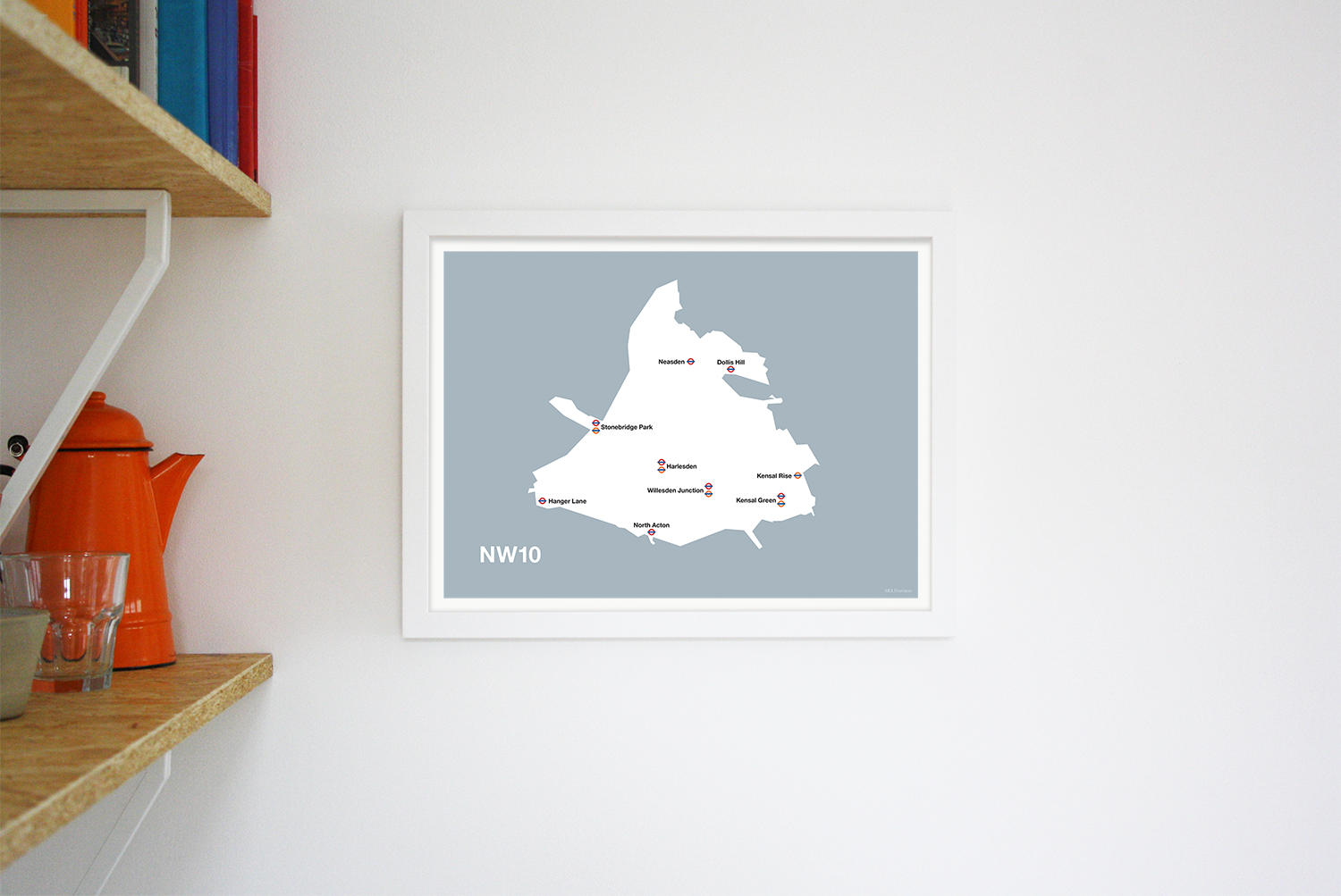 Place in Print MDLThomson NW10 Postcode Map Art Print Lifestyle