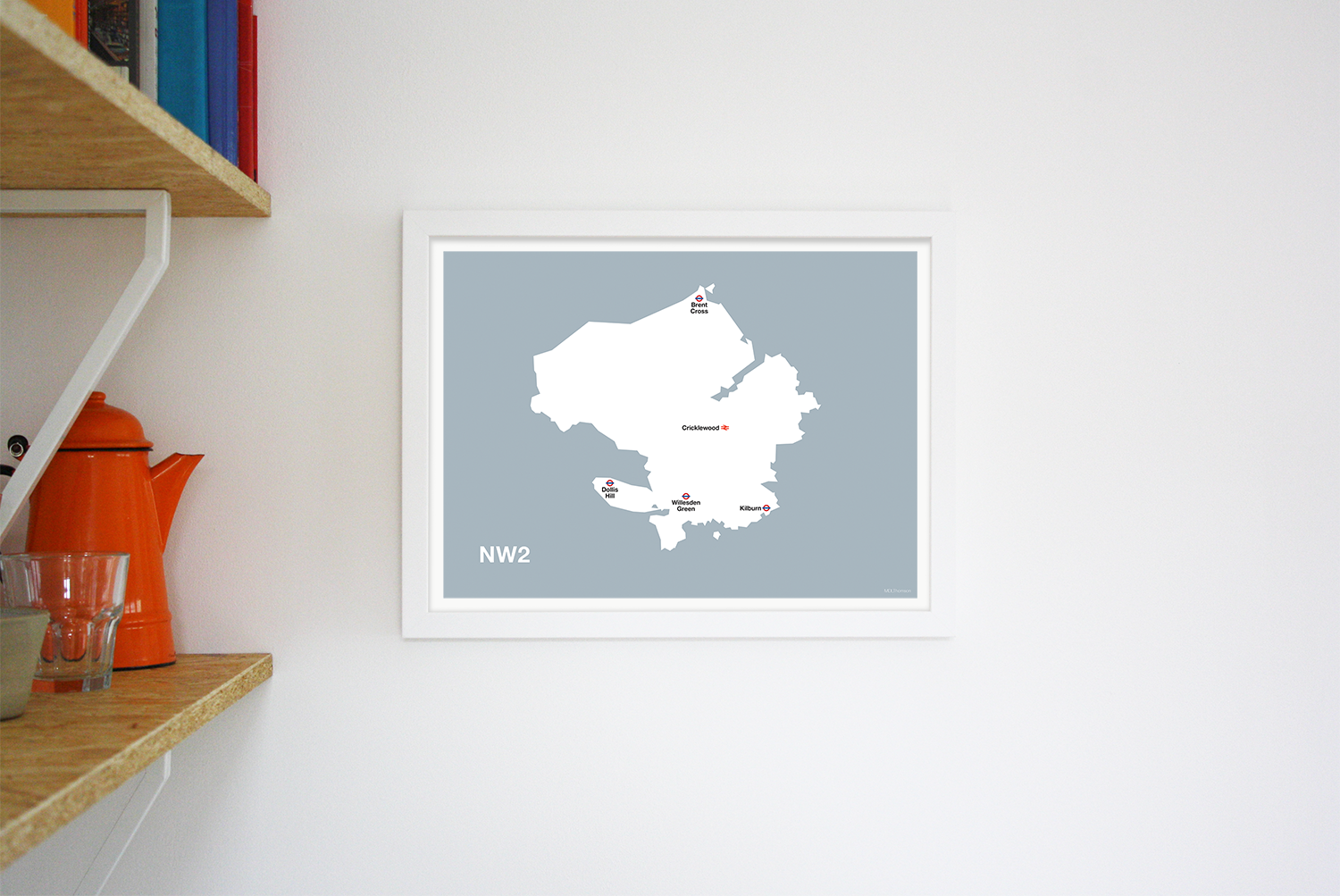 Place in Print MDLThomson NW2 Postcode Map Art Print Lifestyle