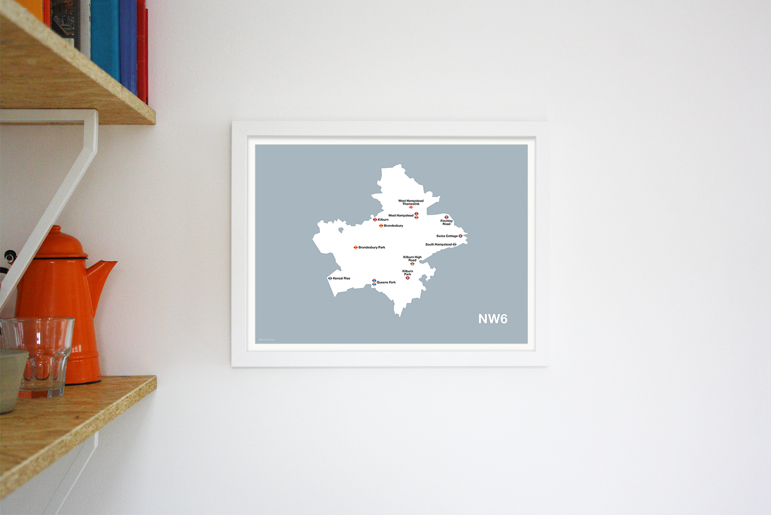 Place in Print MDLThomson NW6 Postcode Map Art Print Lifestyle