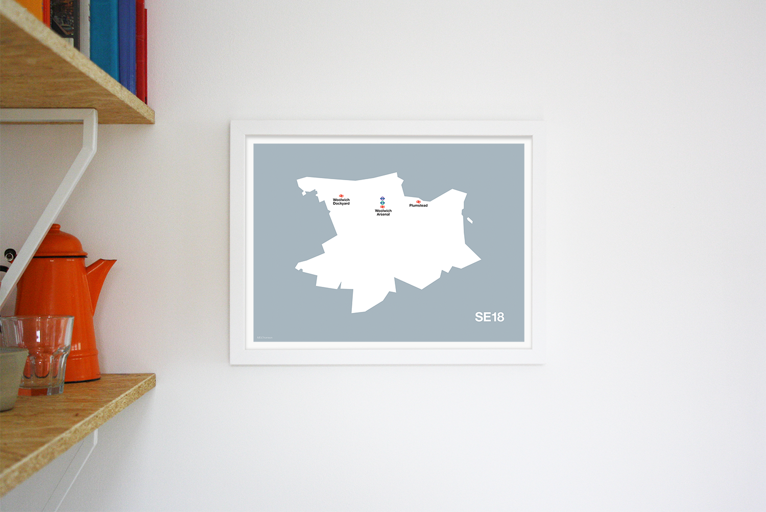 Place in Print MDLThomson SE18 Postcode Map Art Print Lifestyle
