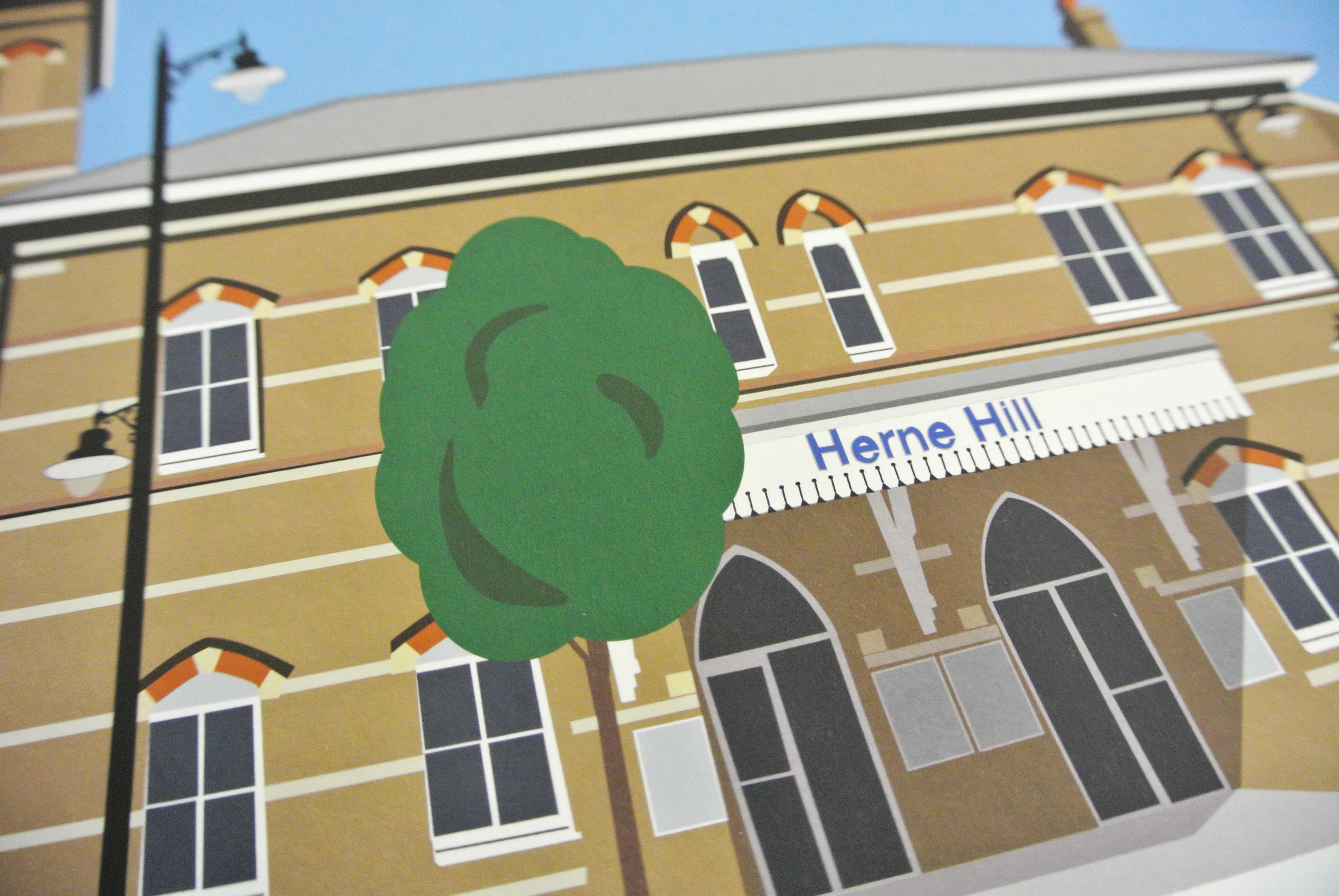 Herne Hill Station Art Poster Print