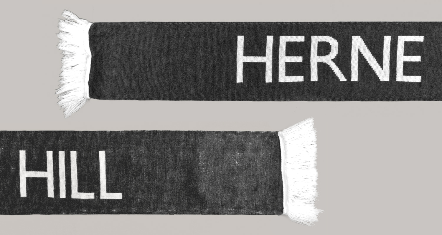 Place in Print Herne Hill Bus Destination Blind Scarf Flat