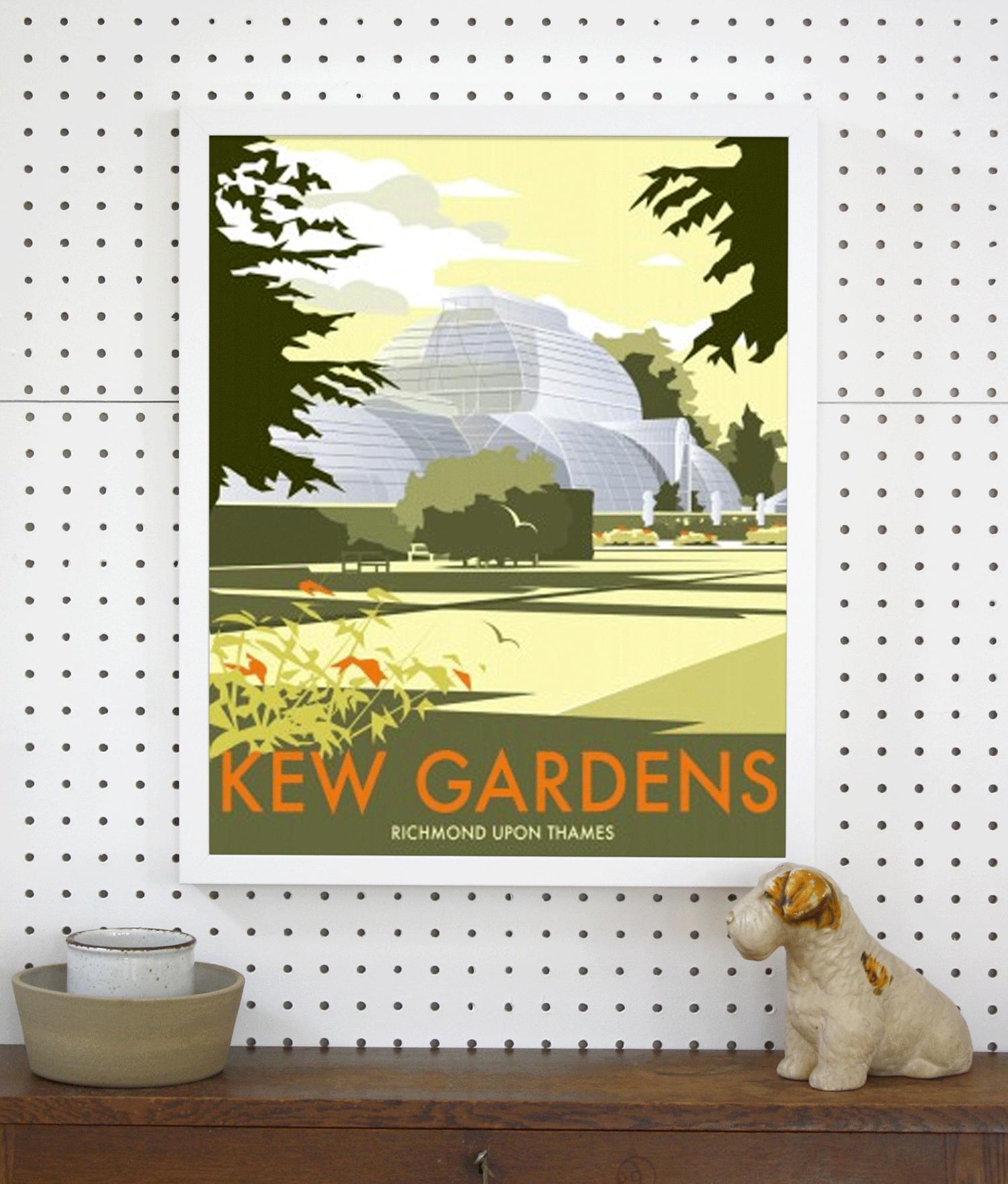 Kew Gardens Travel Poster Giclée Art Print   London Art Prints