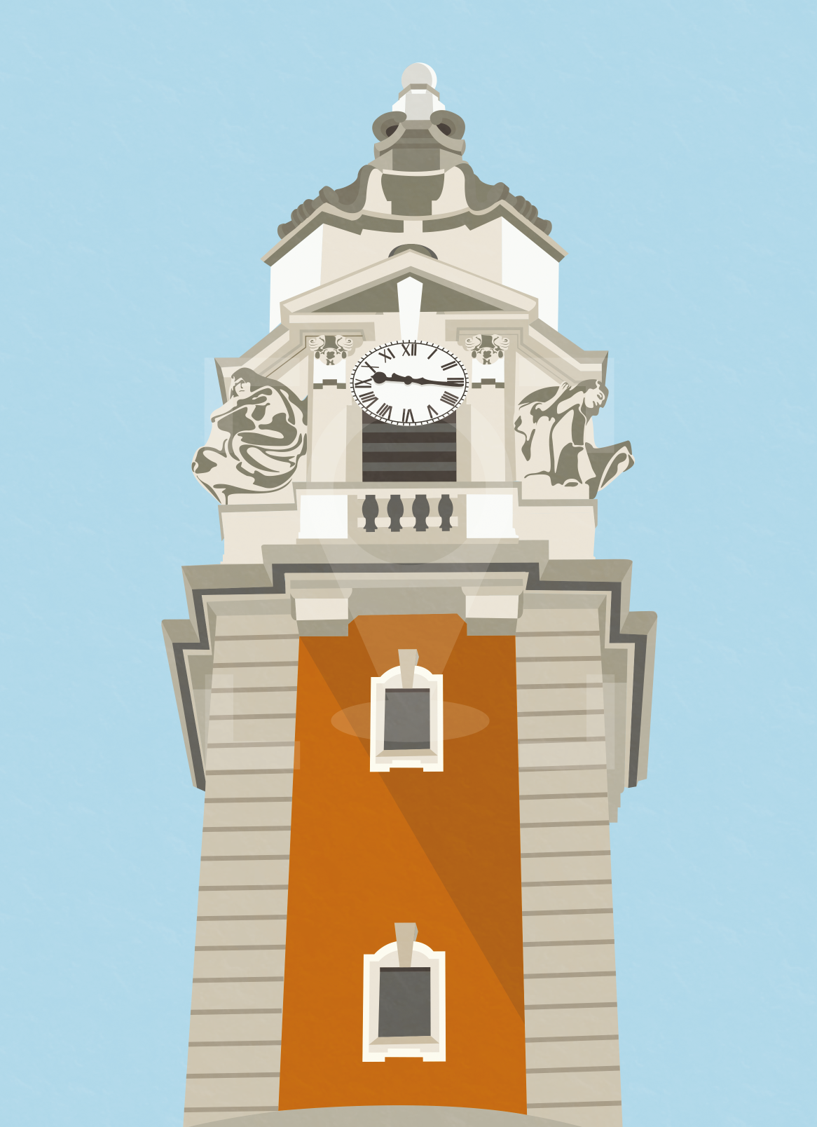 Lambeth Town Hall Art Poster Print