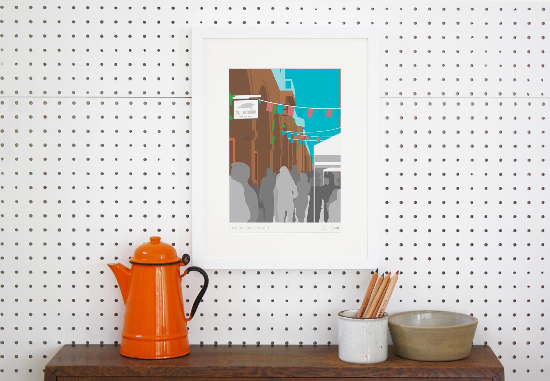 Place in Print Maltby Street Market London Bridge Banner Art Poster Print Lifestyle