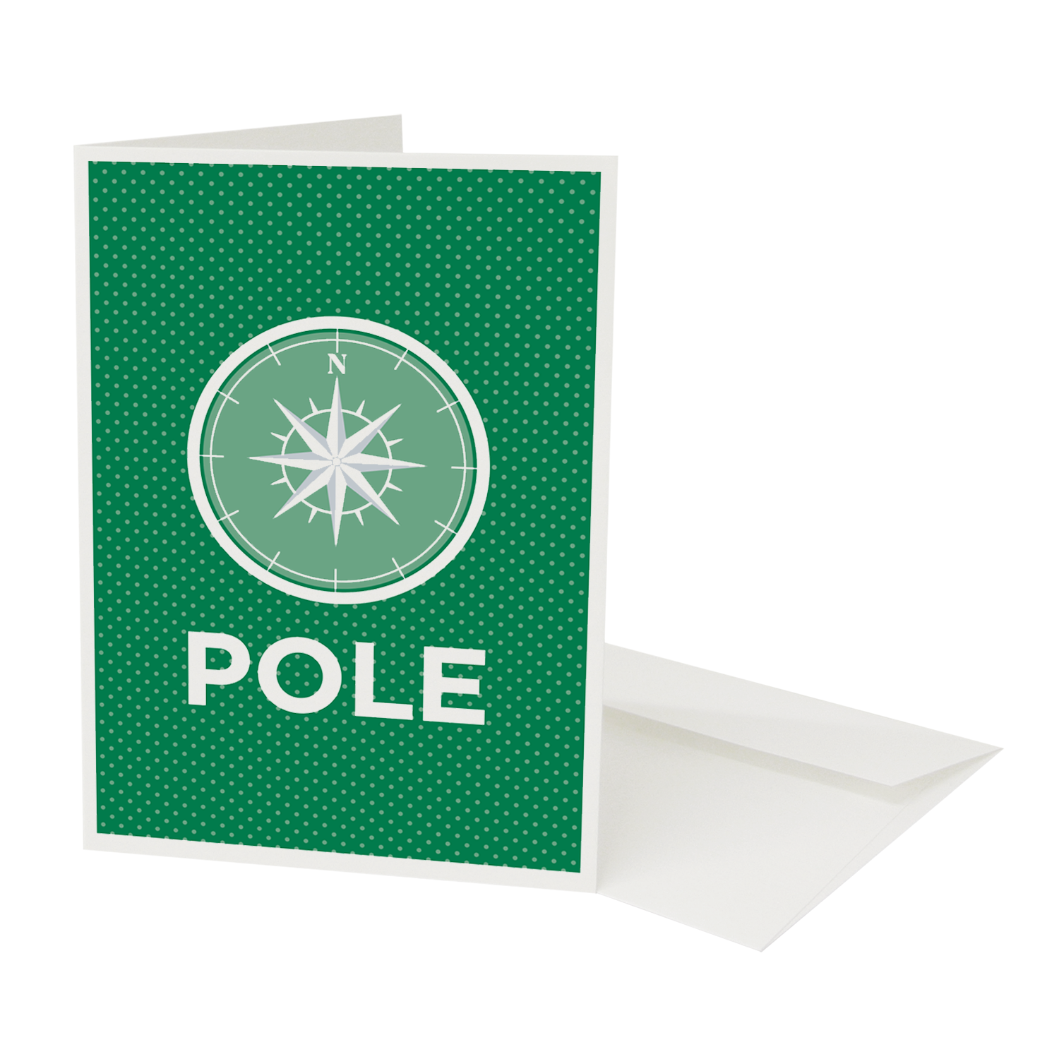 Place in Print Pate North Pole Christmas Greetings Card Green