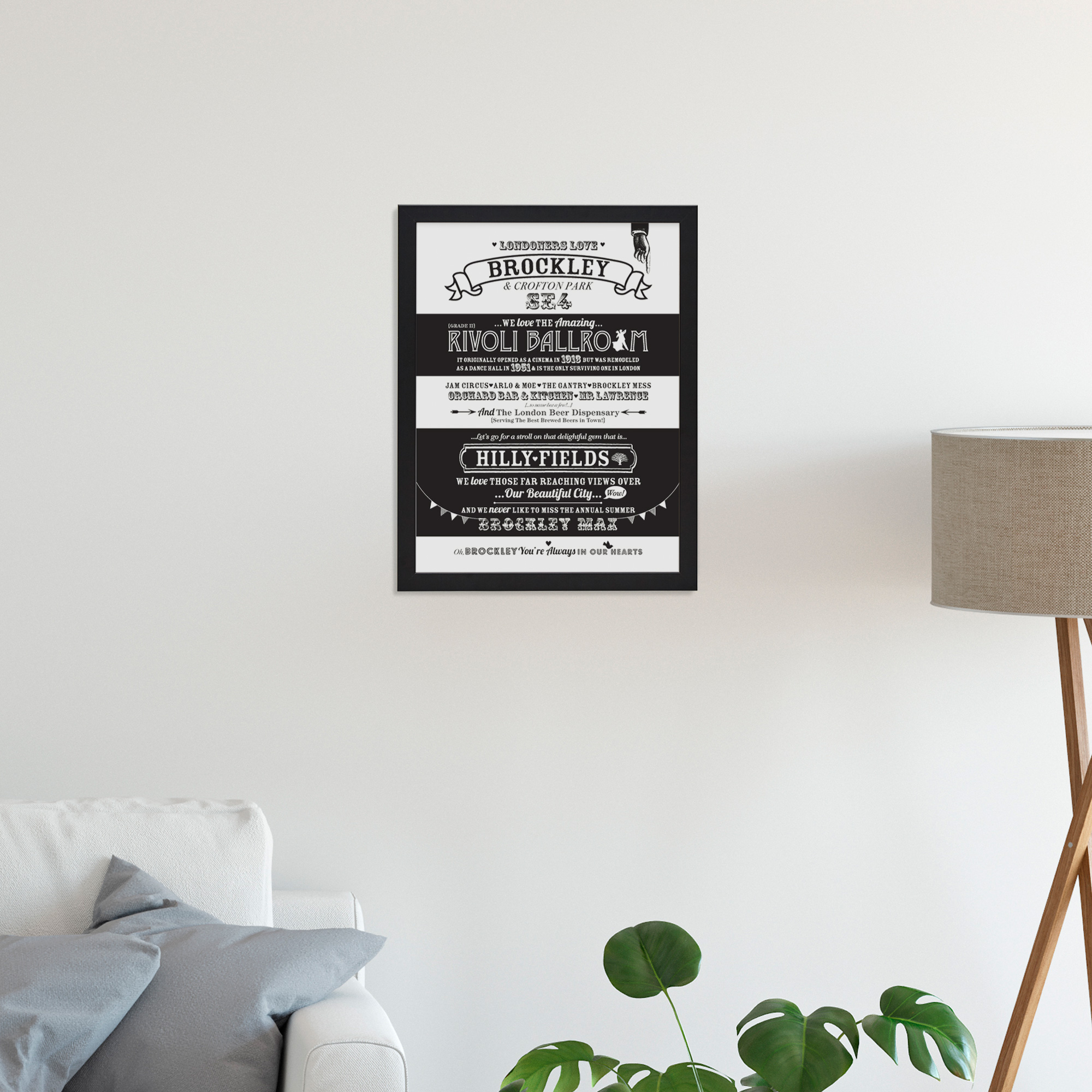 Place in Print Octavia Plum Brockley Love Your Location Art Print Lifestyle