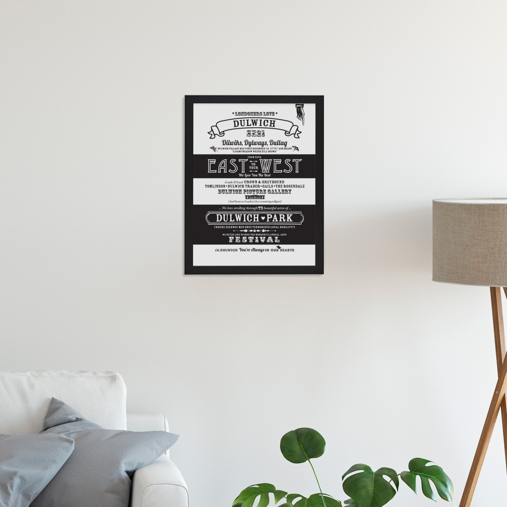 Place in Print Octavia Plum Dulwich Love Your Location Art Print Lifestyle