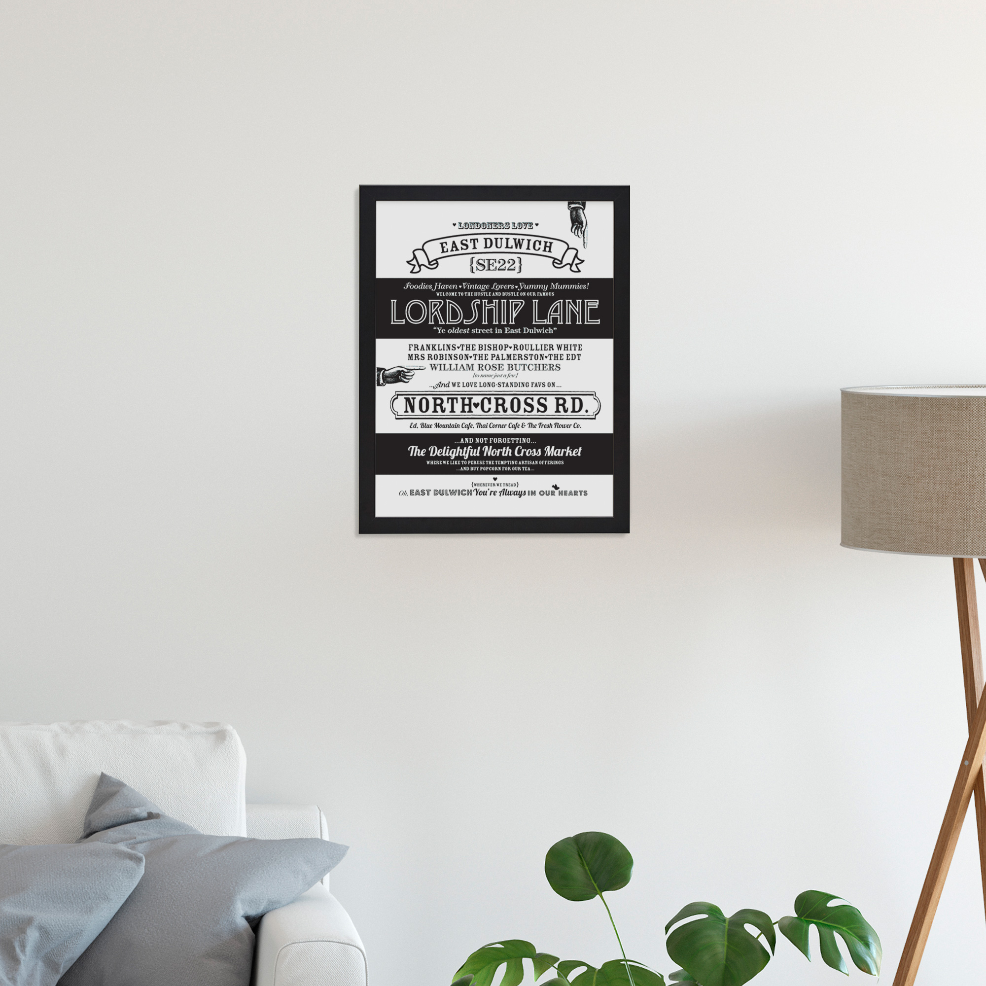 Place in Print Octavia Plum East Dulwich Love Your Location Art Print Lifestyle