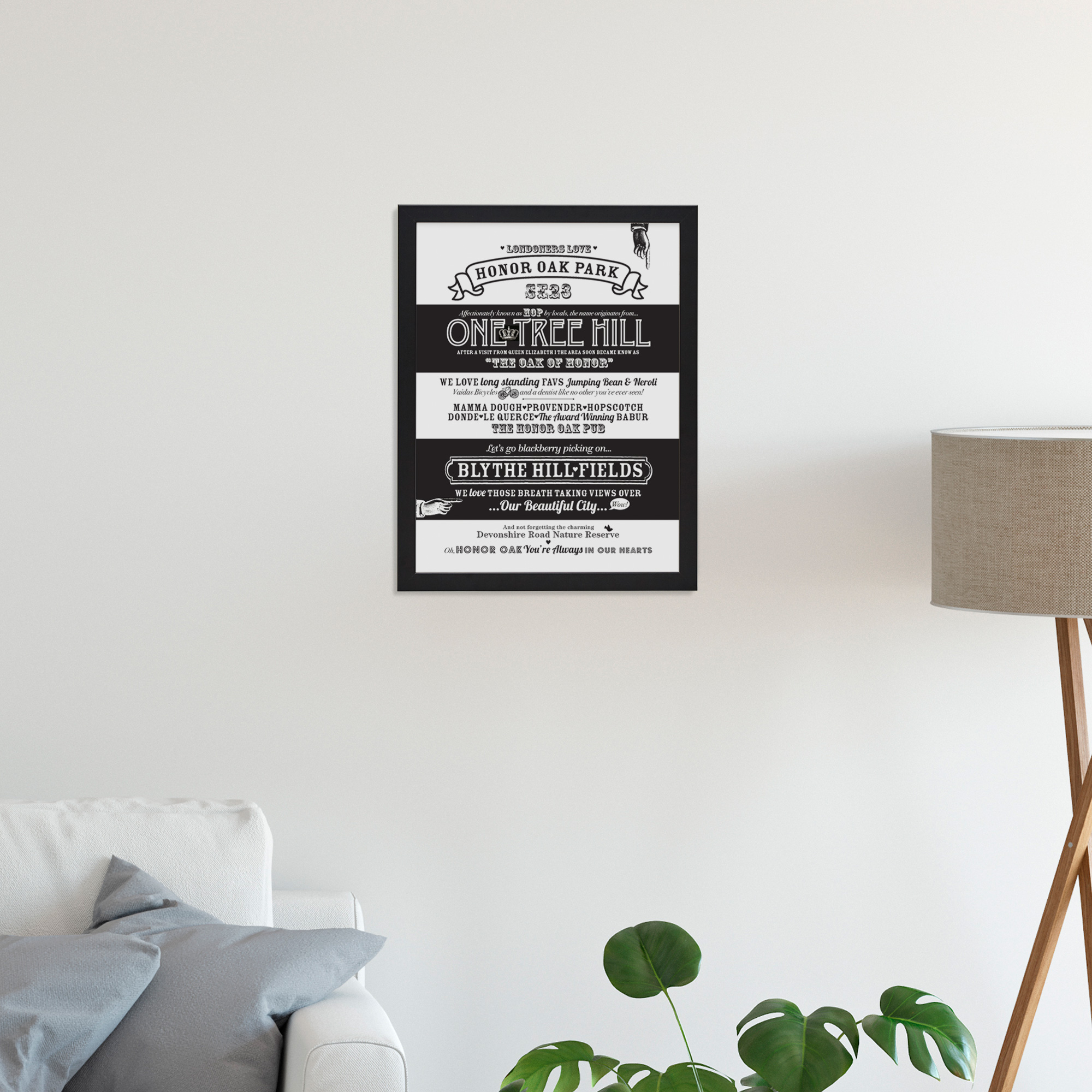 Place in Print Octavia Plum Honor Oak Love Your Location Art Print Lifestyle