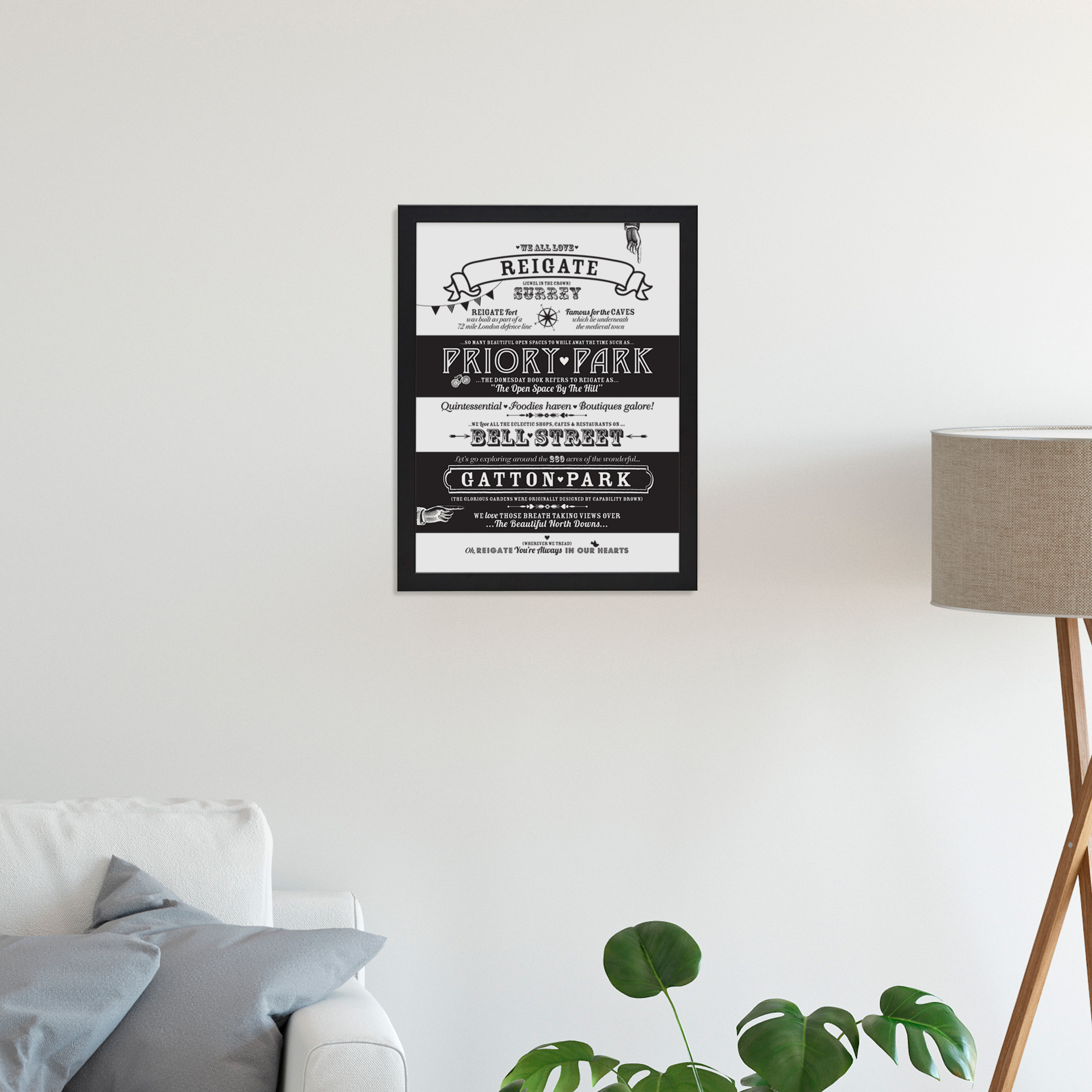 Place in Print Octavia Plum Reigate Love Your Location Art Print Lifestyle