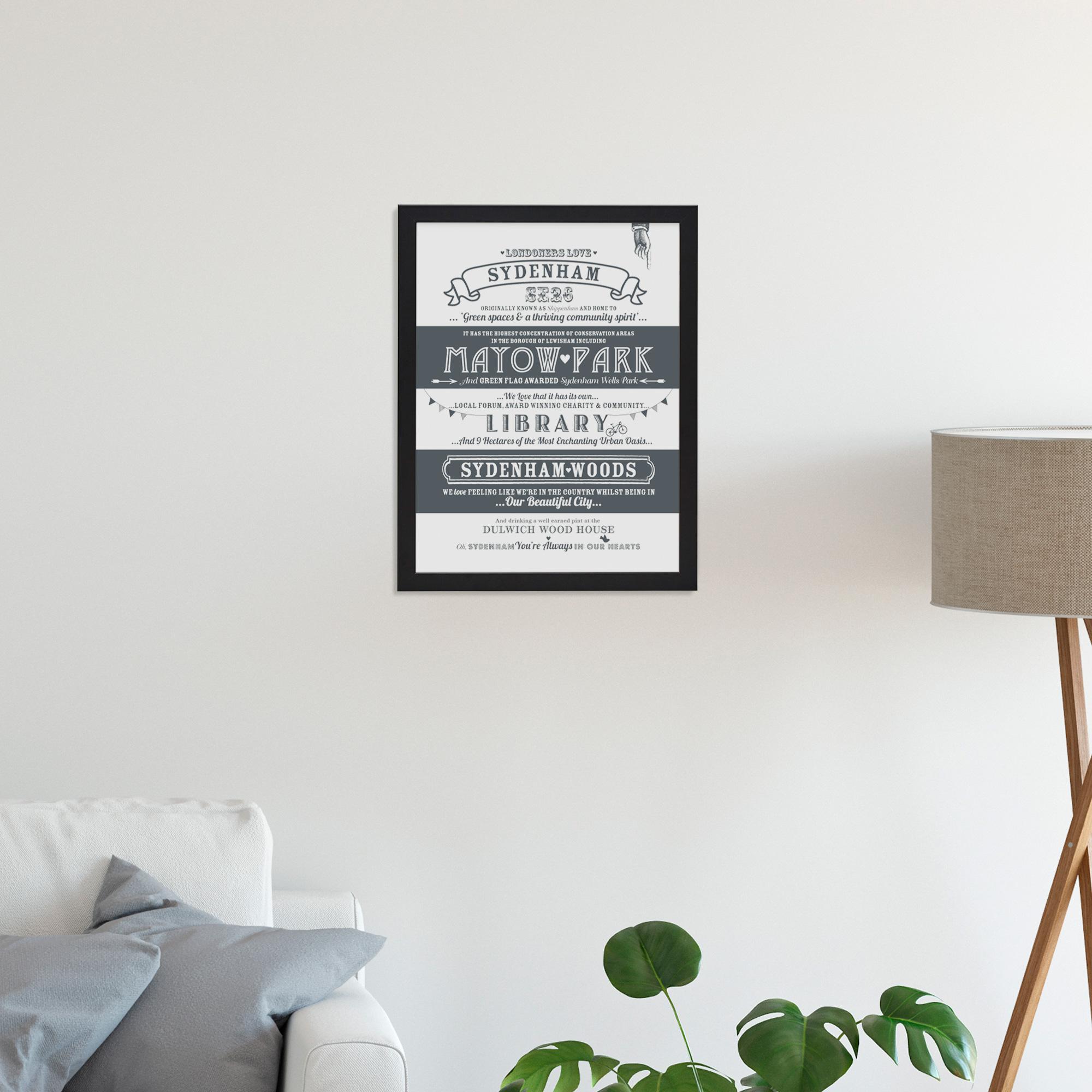 Place in Print Octavia Plum Sydenham Love Your Location Art Print Lifestyle