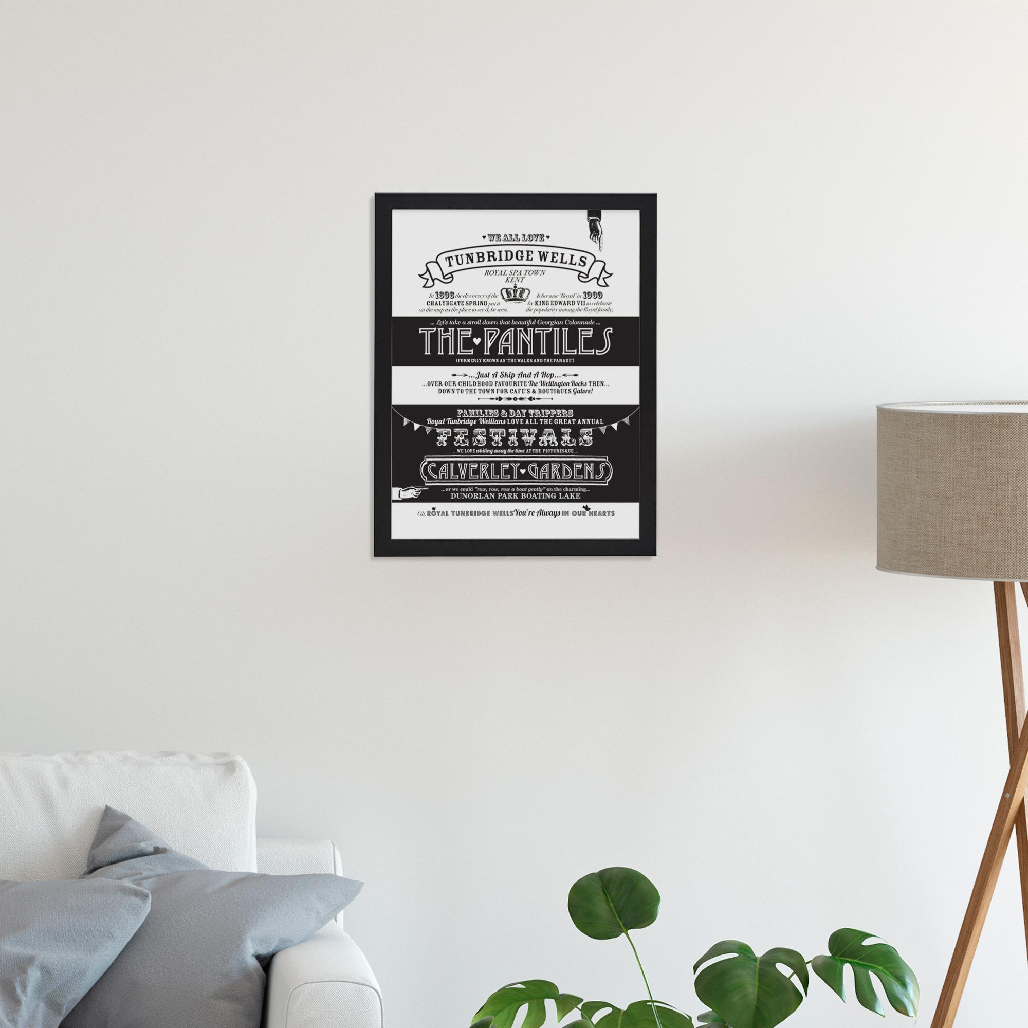 Place in Print Octavia Plum Tunbridge Wells Love Your Location Art Print Lifestyle