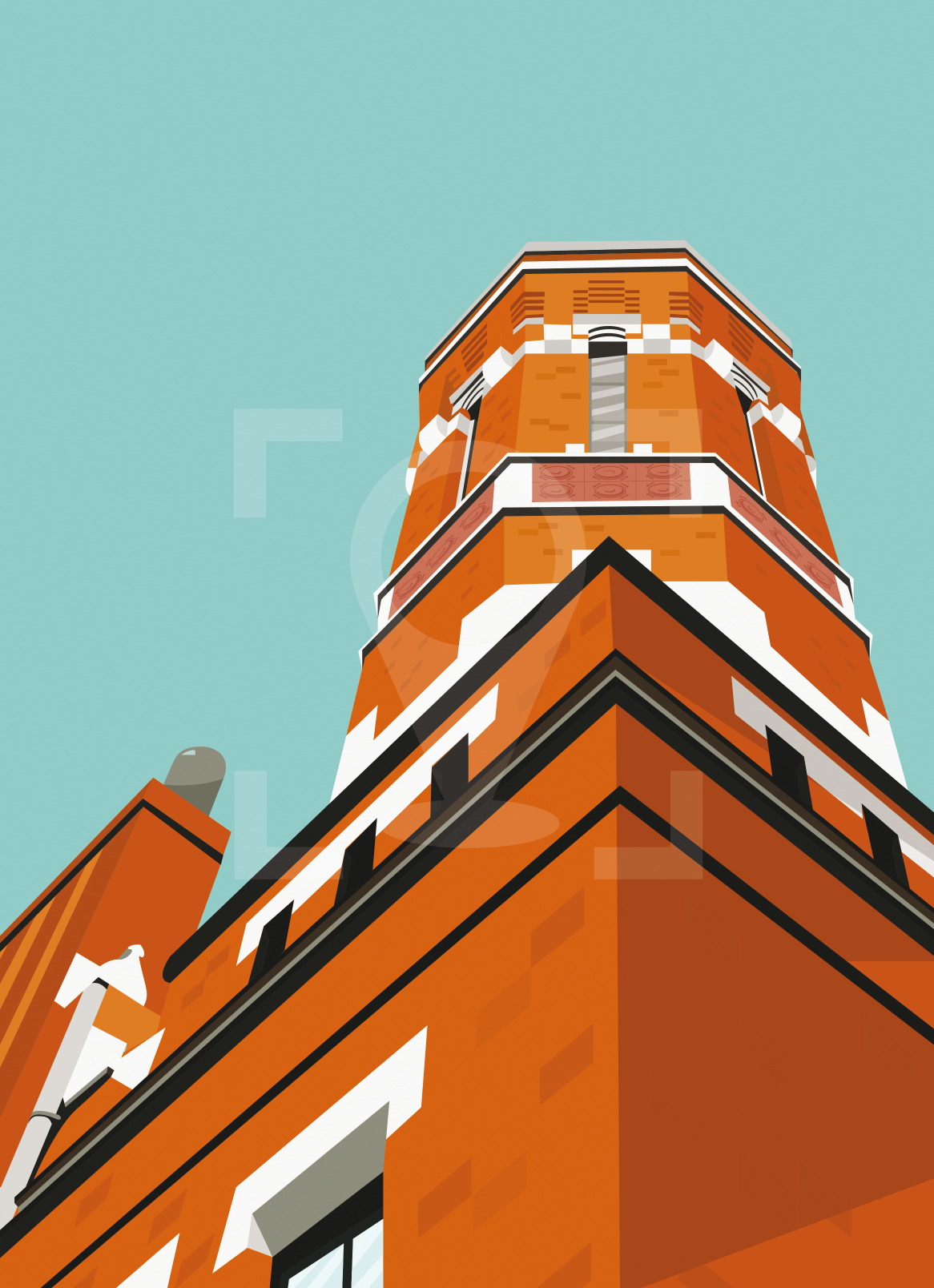 Old FIre Station West Norwood Art Poster Print