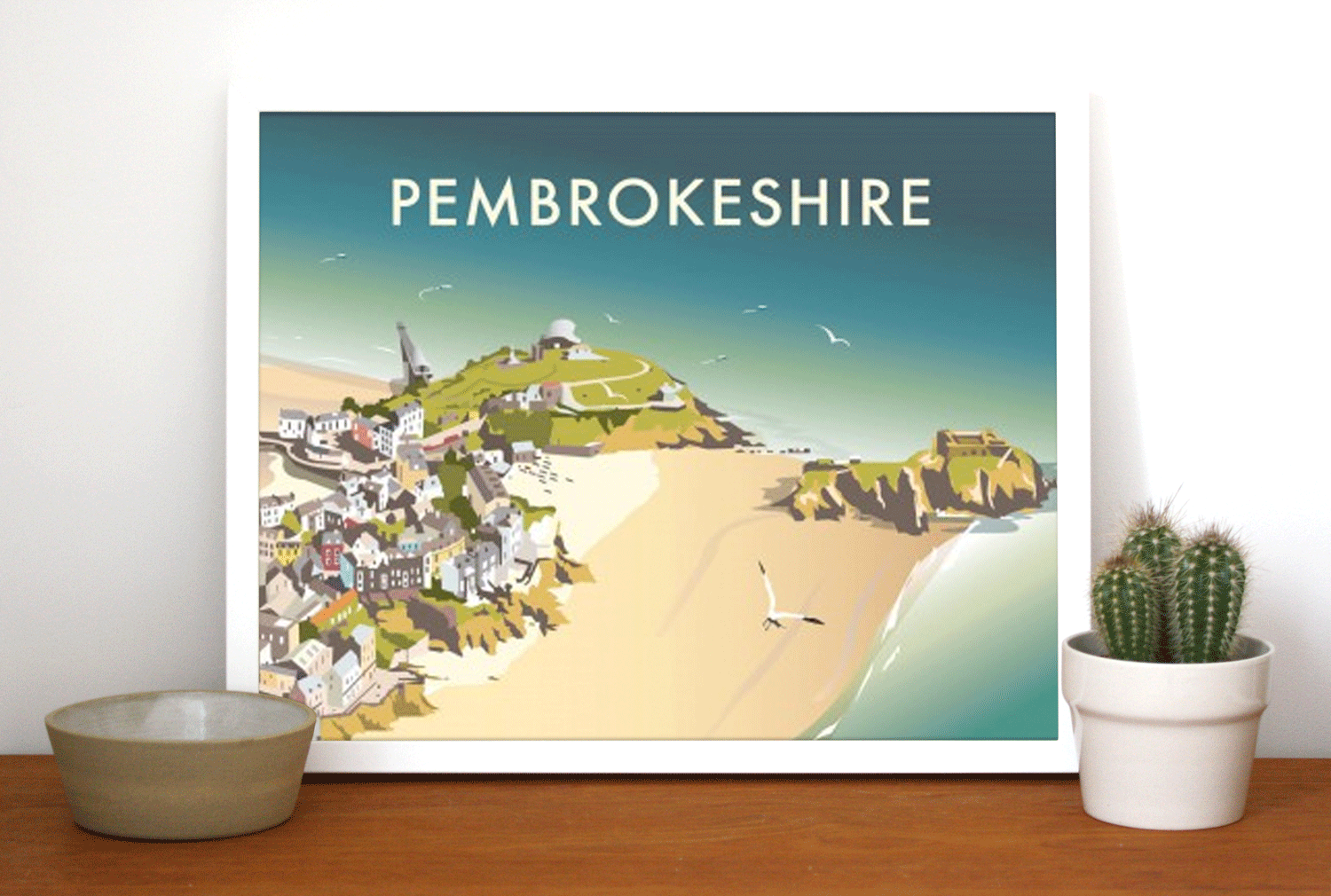 Place in Print Dave Thompson Pembrokeshire Travel Poster Art Print Lifestyle