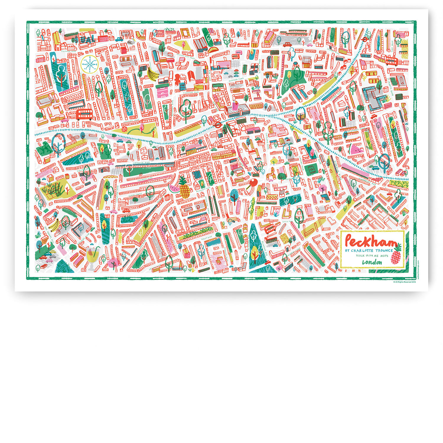 Peckham Illustrated Map Illustrated Map Print on historical map of london, art map of london, painted map of london, business map of london, black map of london, color map of london, interactive map of london, simple map of london, watercolor of london, graphic map of london, travel map of london, childrens map of london,
