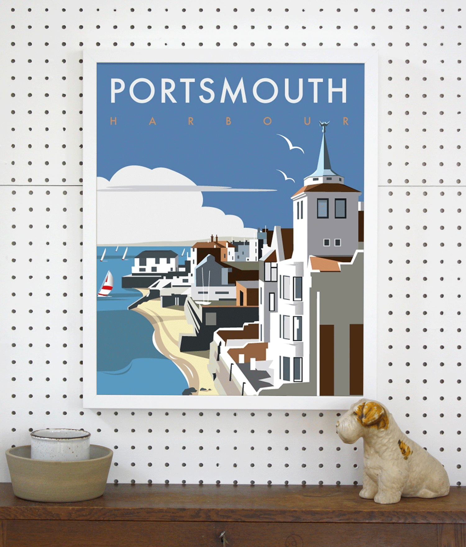 Place in Print Dave Thompson Portsmouth Harbour Travel Poster Art Print Lifestyle