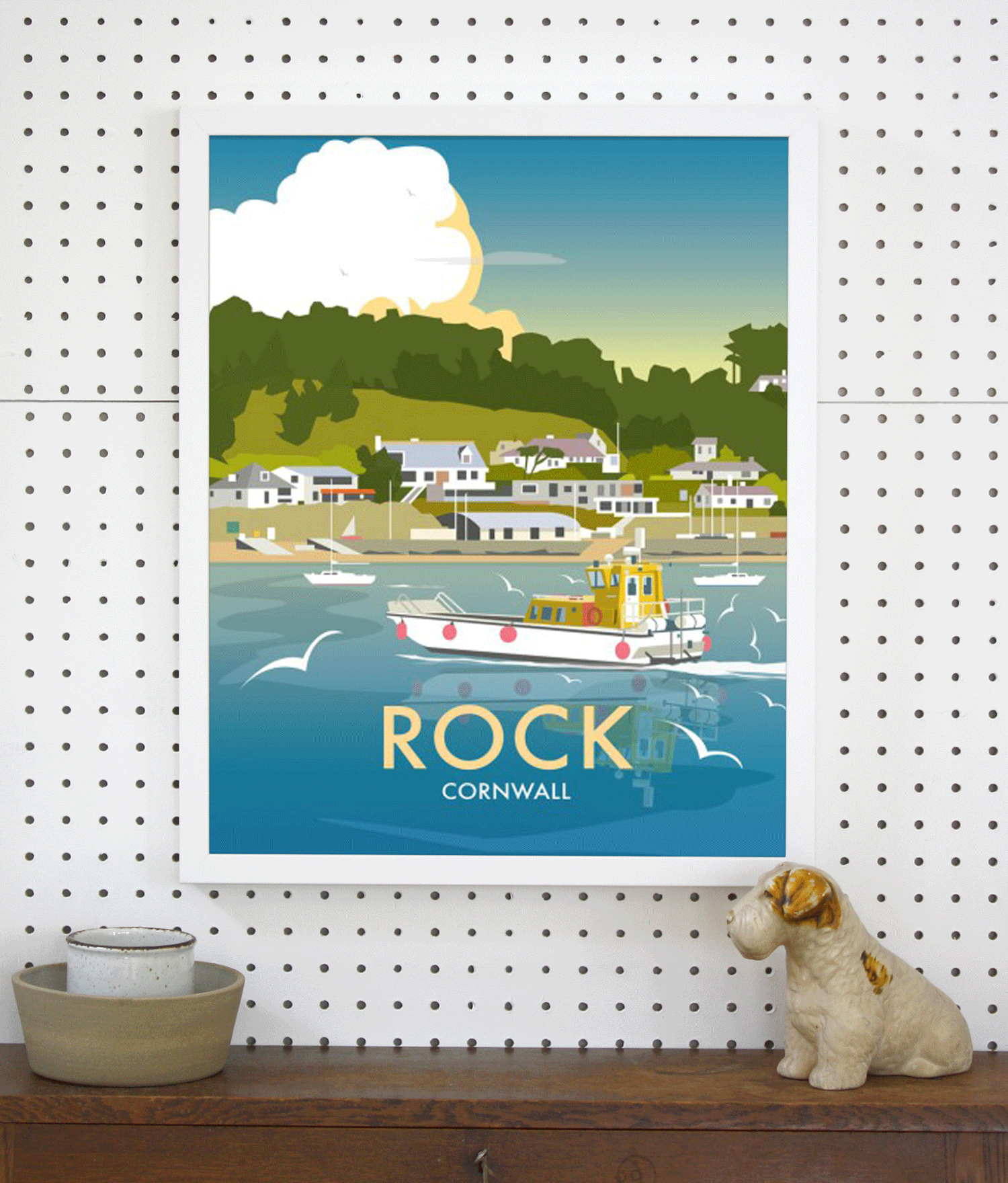 Place in Print Dave Thompson Rock Travel Poster Art Print Lifestyle