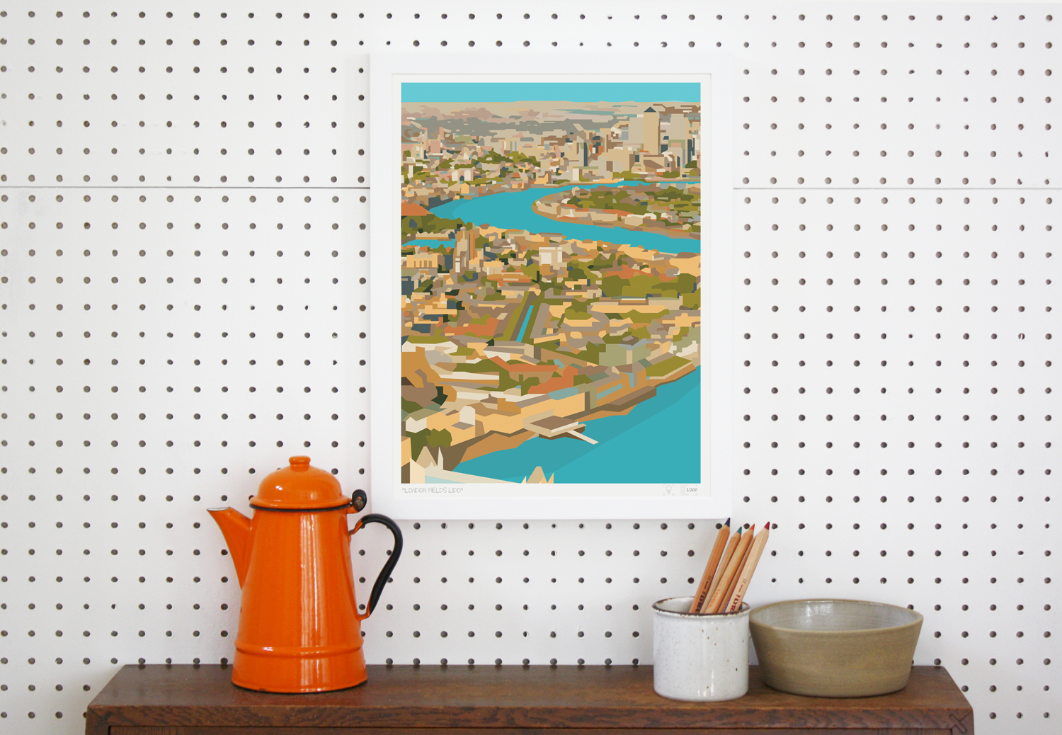 Place in Print Rooftops of East London View Art Print Lifestyle