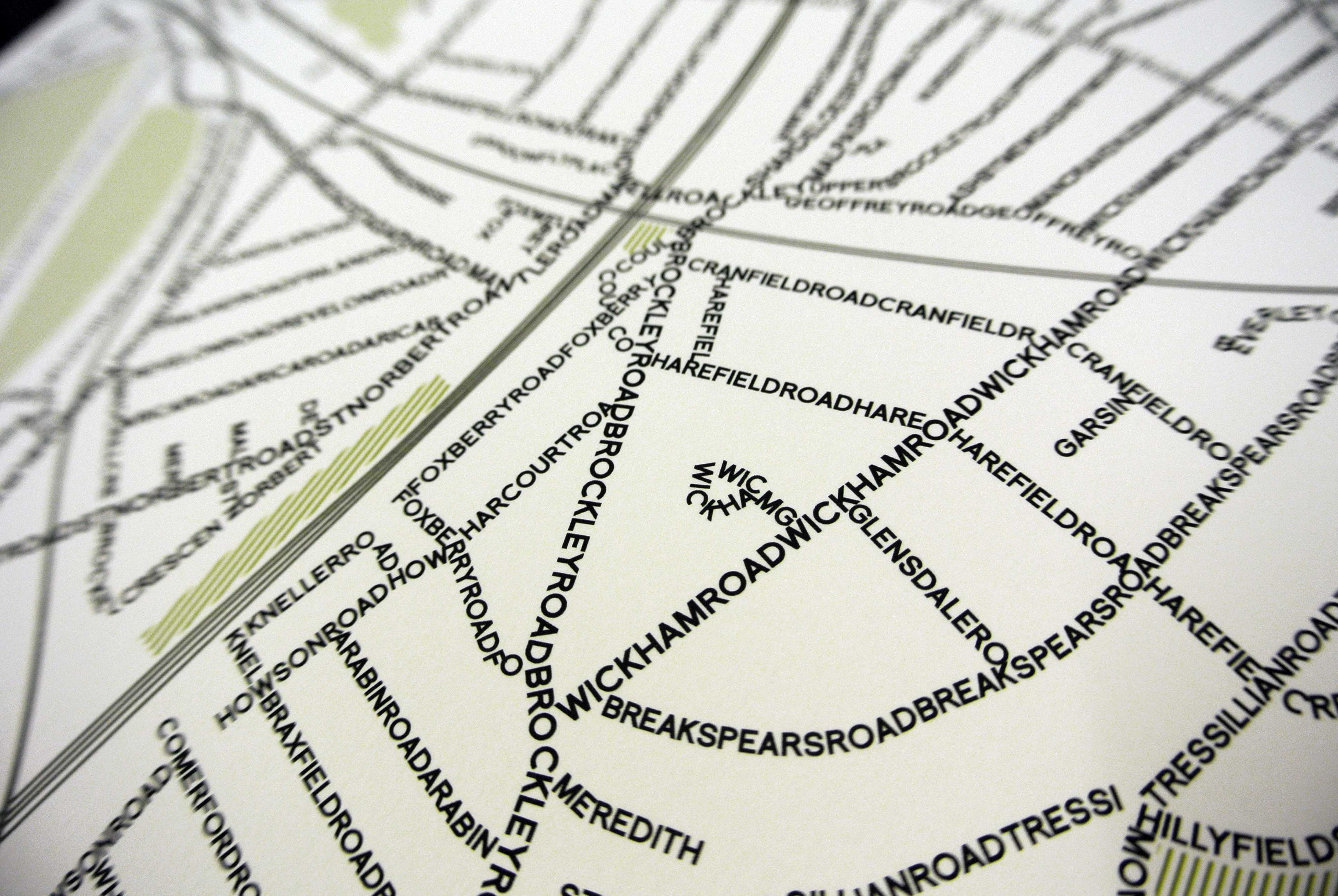 Place in Print SE4 Typographic Map
