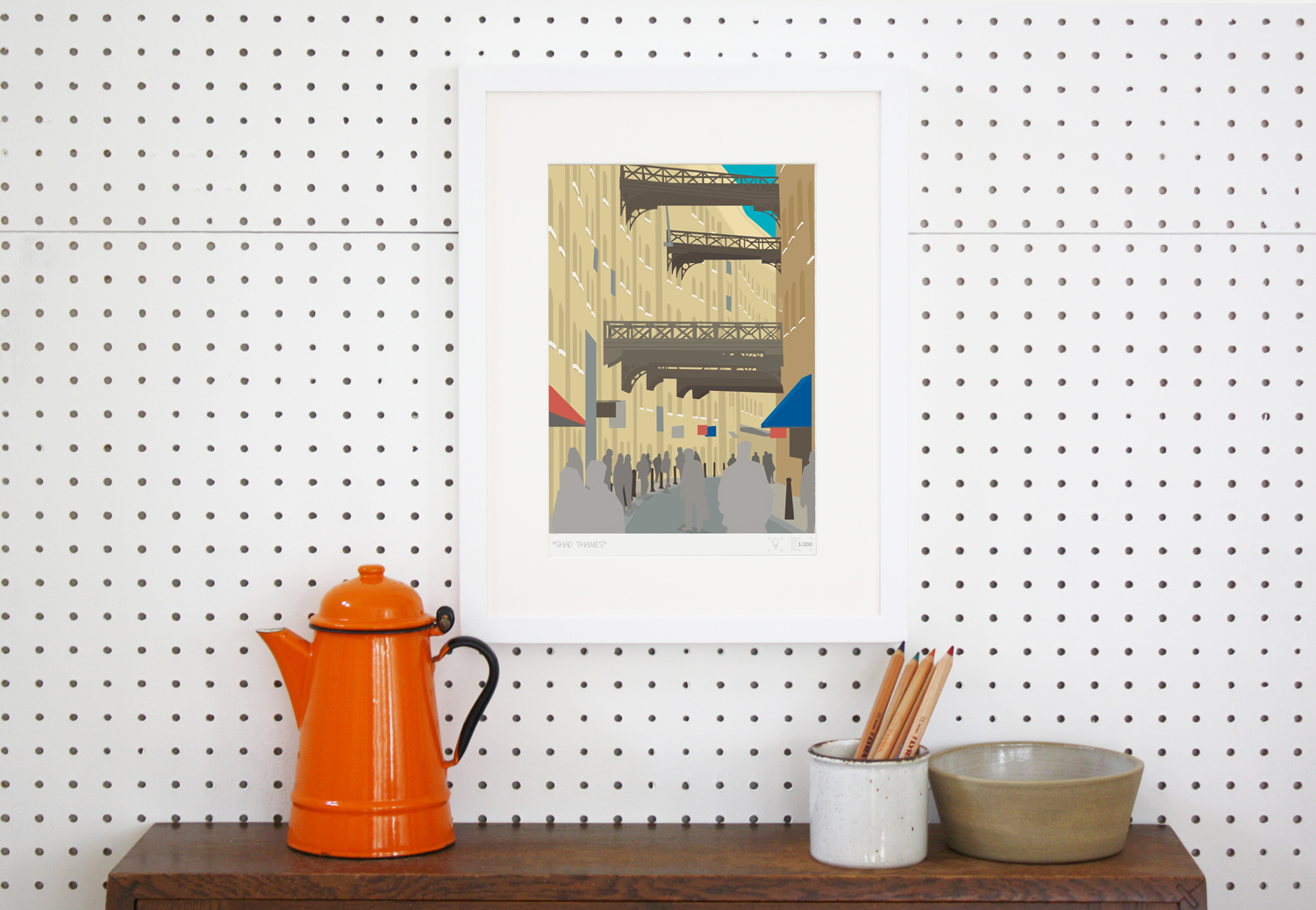 Place in Print Shad Thames London Bridge Banner Art Poster Print Lifestyle