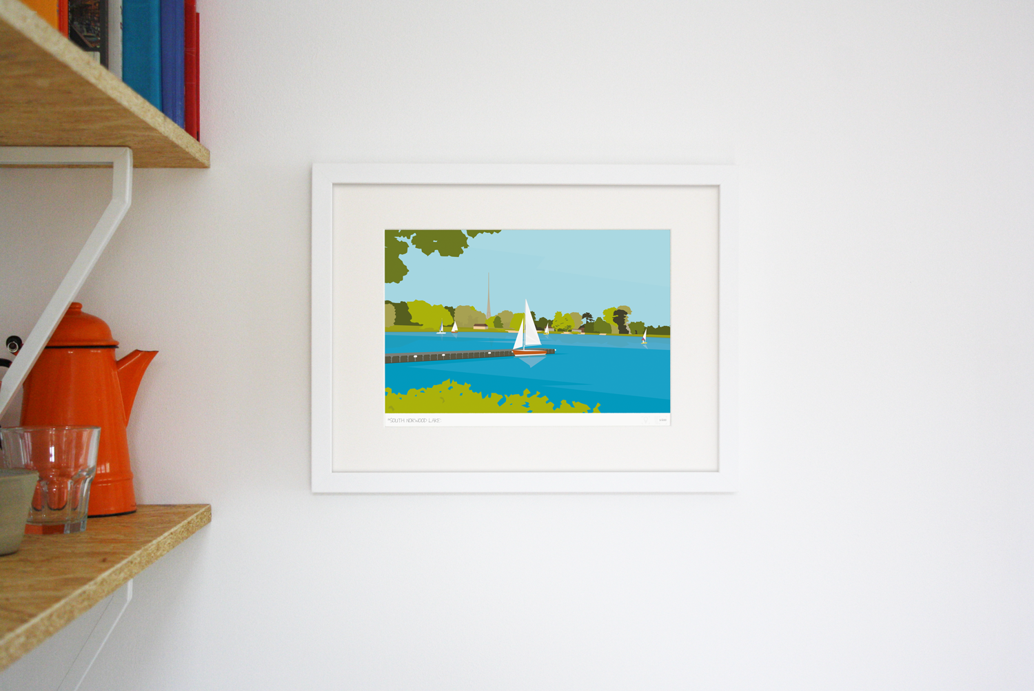 Place in Print South Norwood Lake Art Print Lifestyle