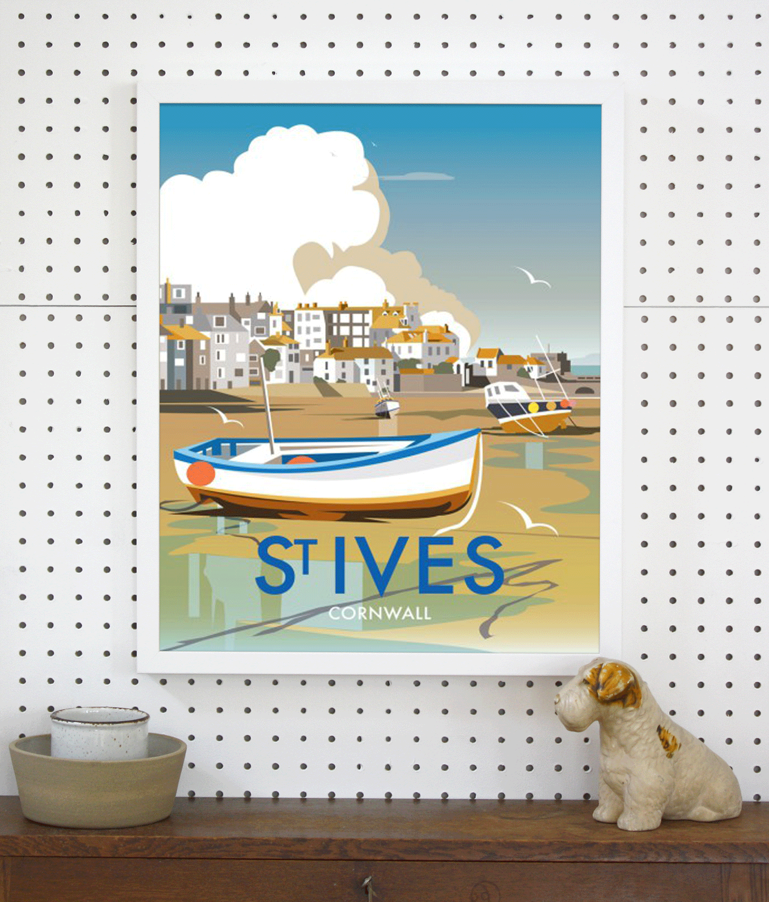 Place in Print Dave Thompson St Ives Travel Poster Art Print Lifestyle